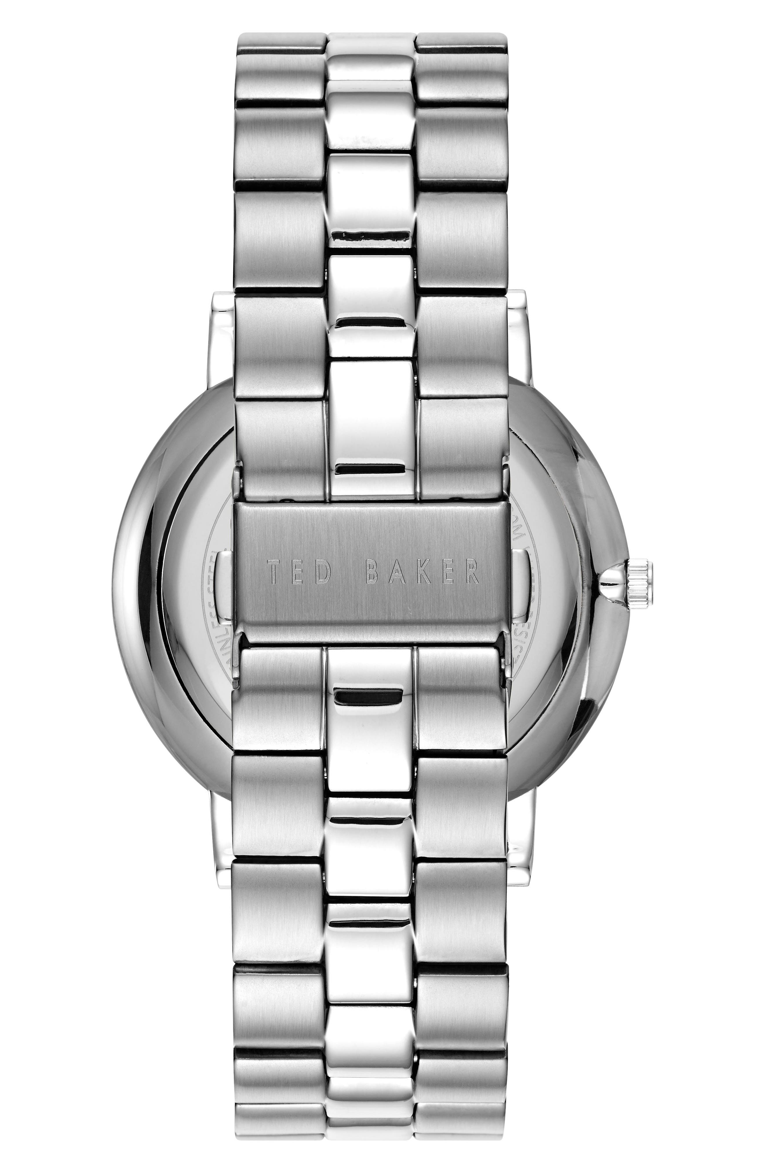 Dean Bracelet Watch, 40mm,                             Alternate thumbnail 2, color,                             Gunmetal/ Stainless