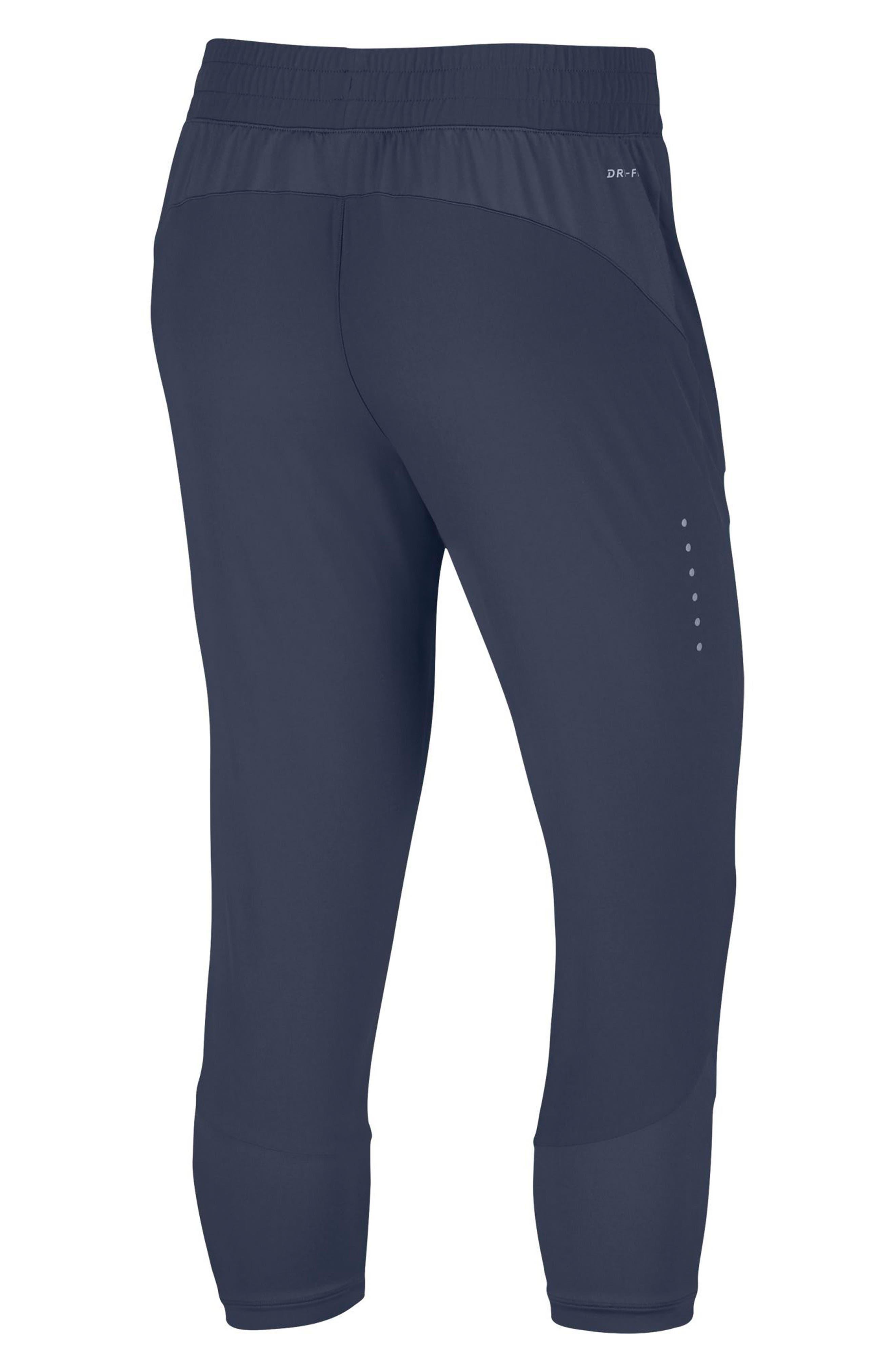 Women's Flex Swift Running Crop Pants,                             Alternate thumbnail 2, color,                             Thunder Blue