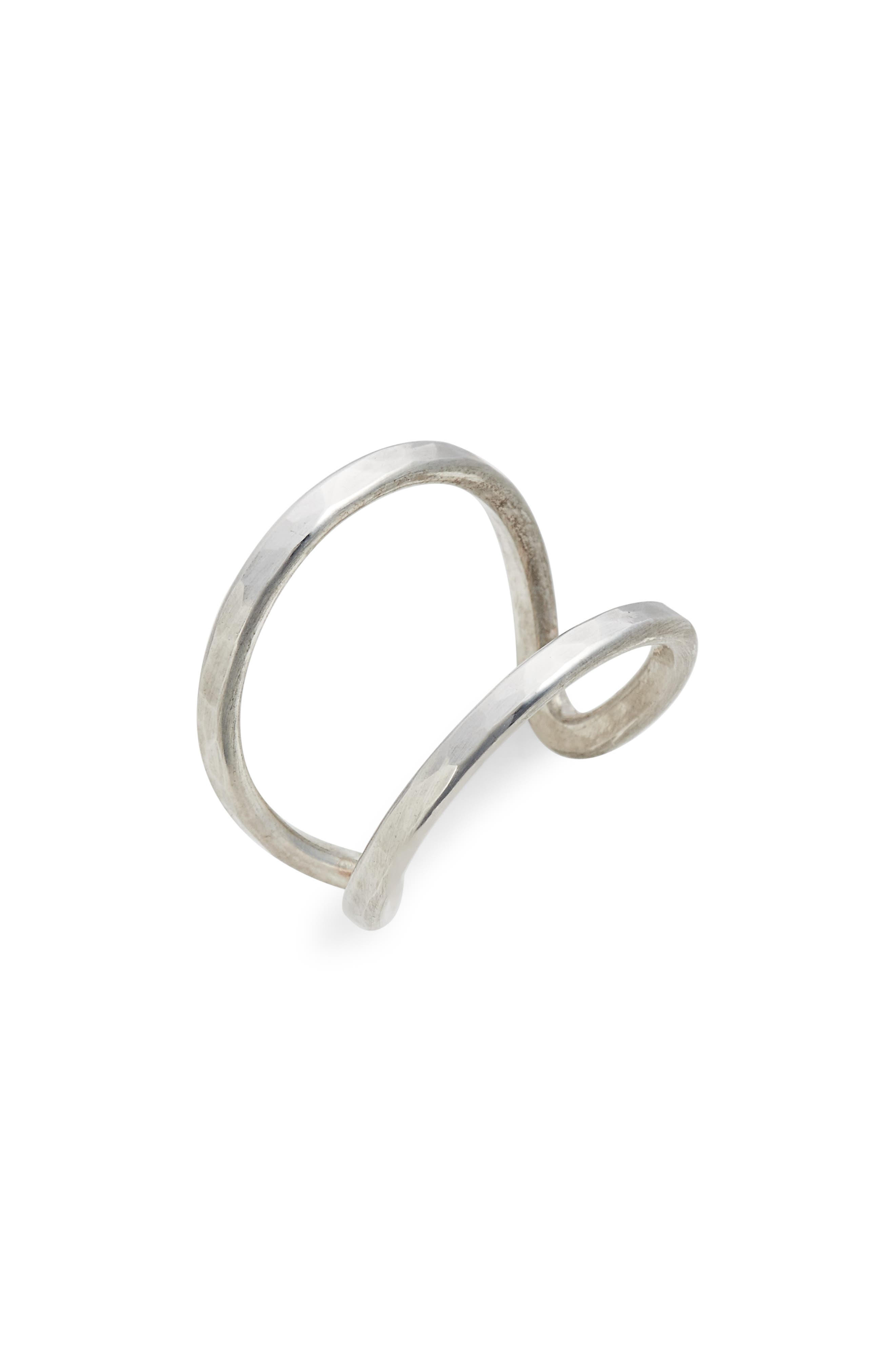 Aria Pure Open Ring,                             Main thumbnail 1, color,                             Silver