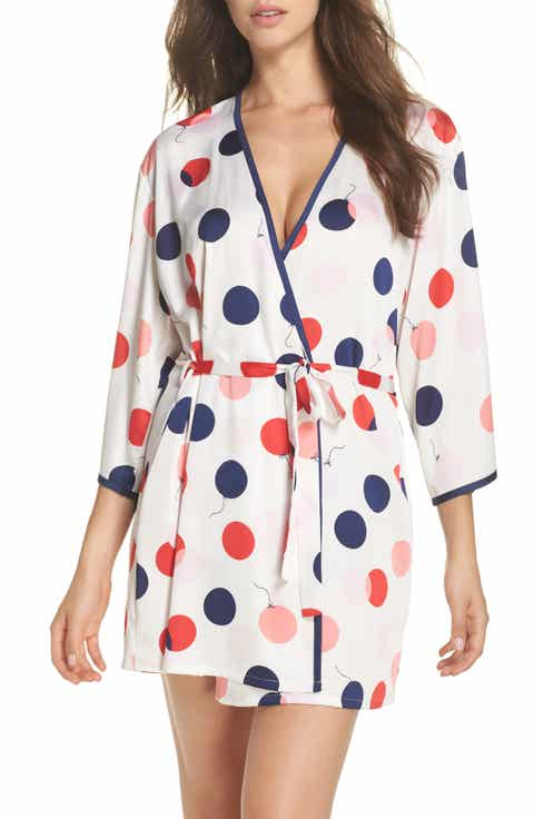 kate spade new york charmeuse short robe On sale
