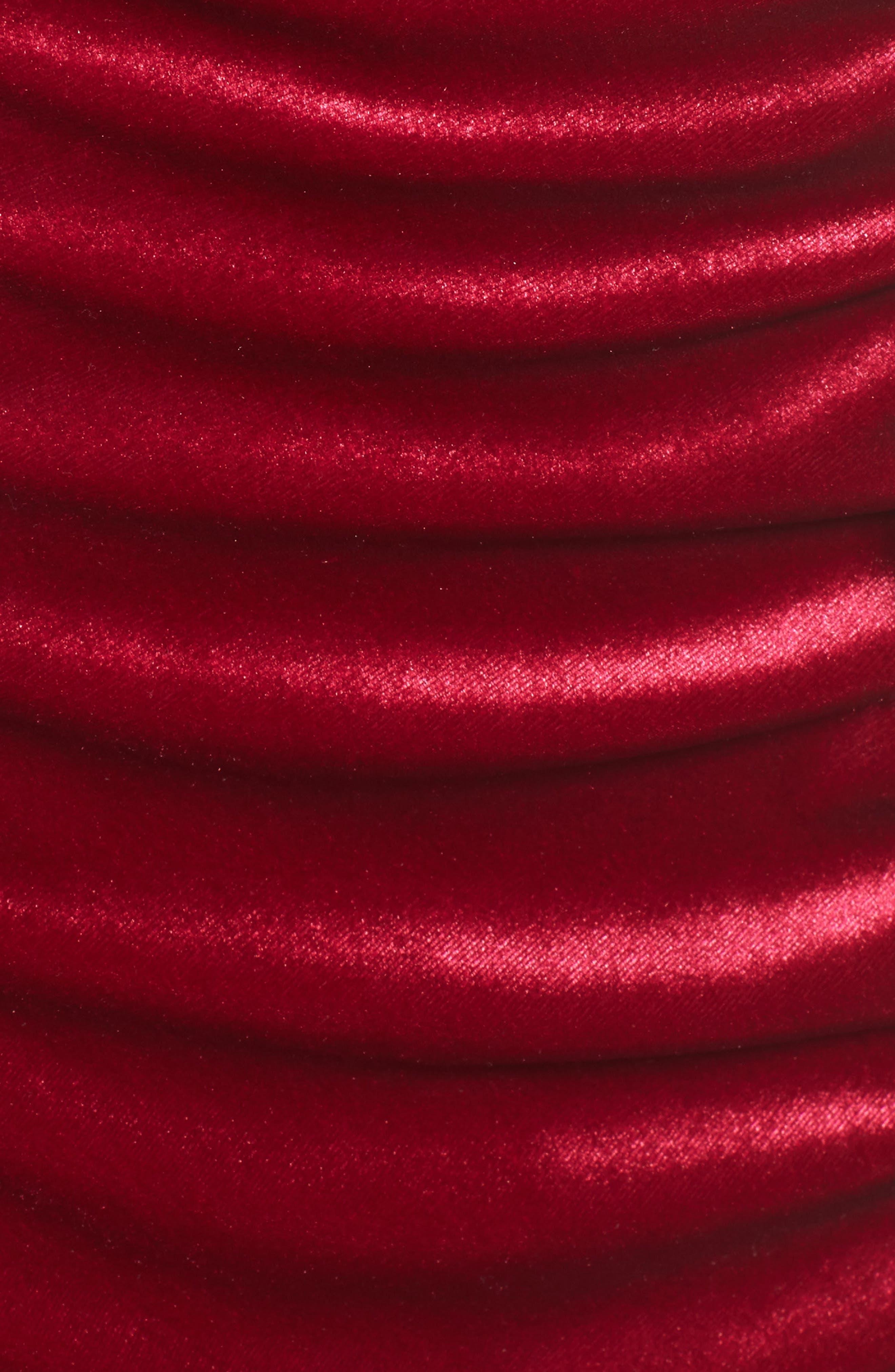 Grace Velvet Sheath Dress,                             Alternate thumbnail 5, color,                             Vivacious