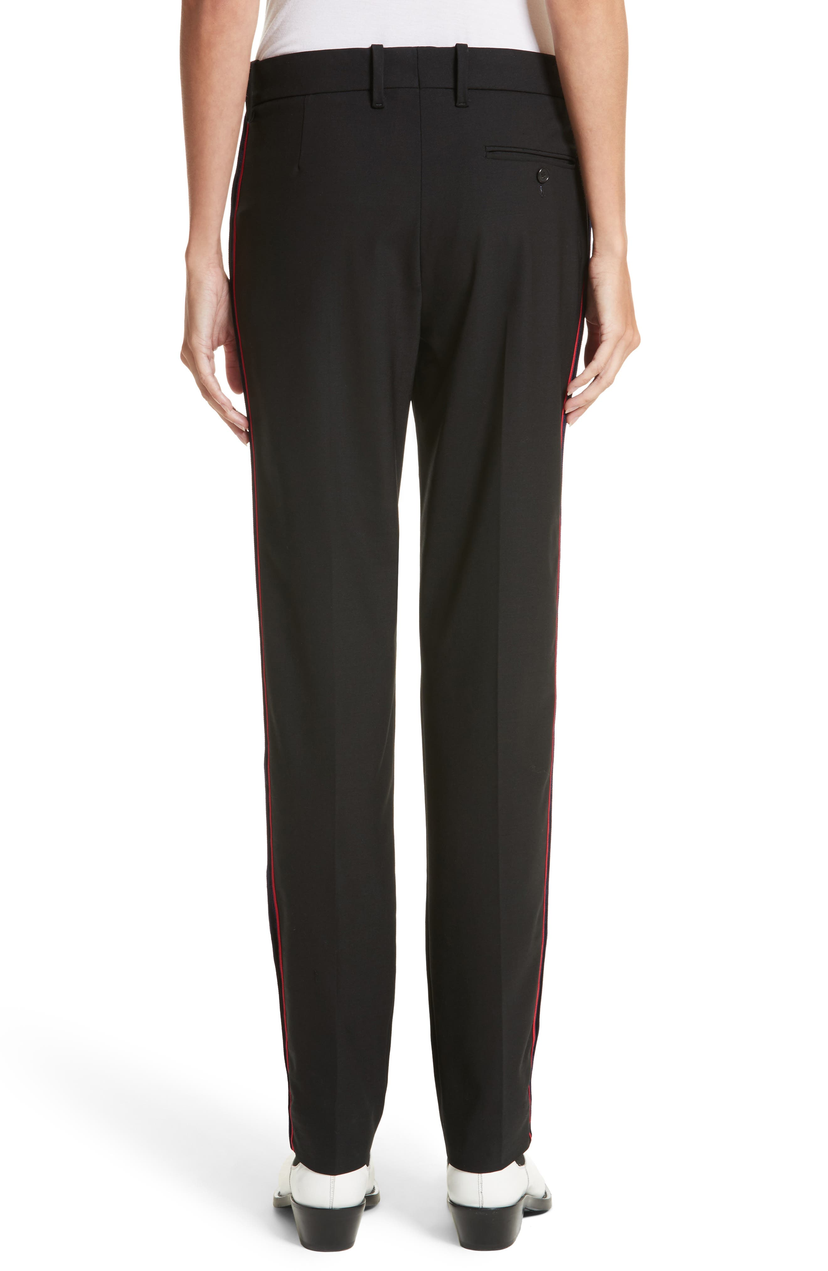 Alternate Image 2  - Calvin Klein 205W39NYC Velvet Stripe Stretch Wool Pants