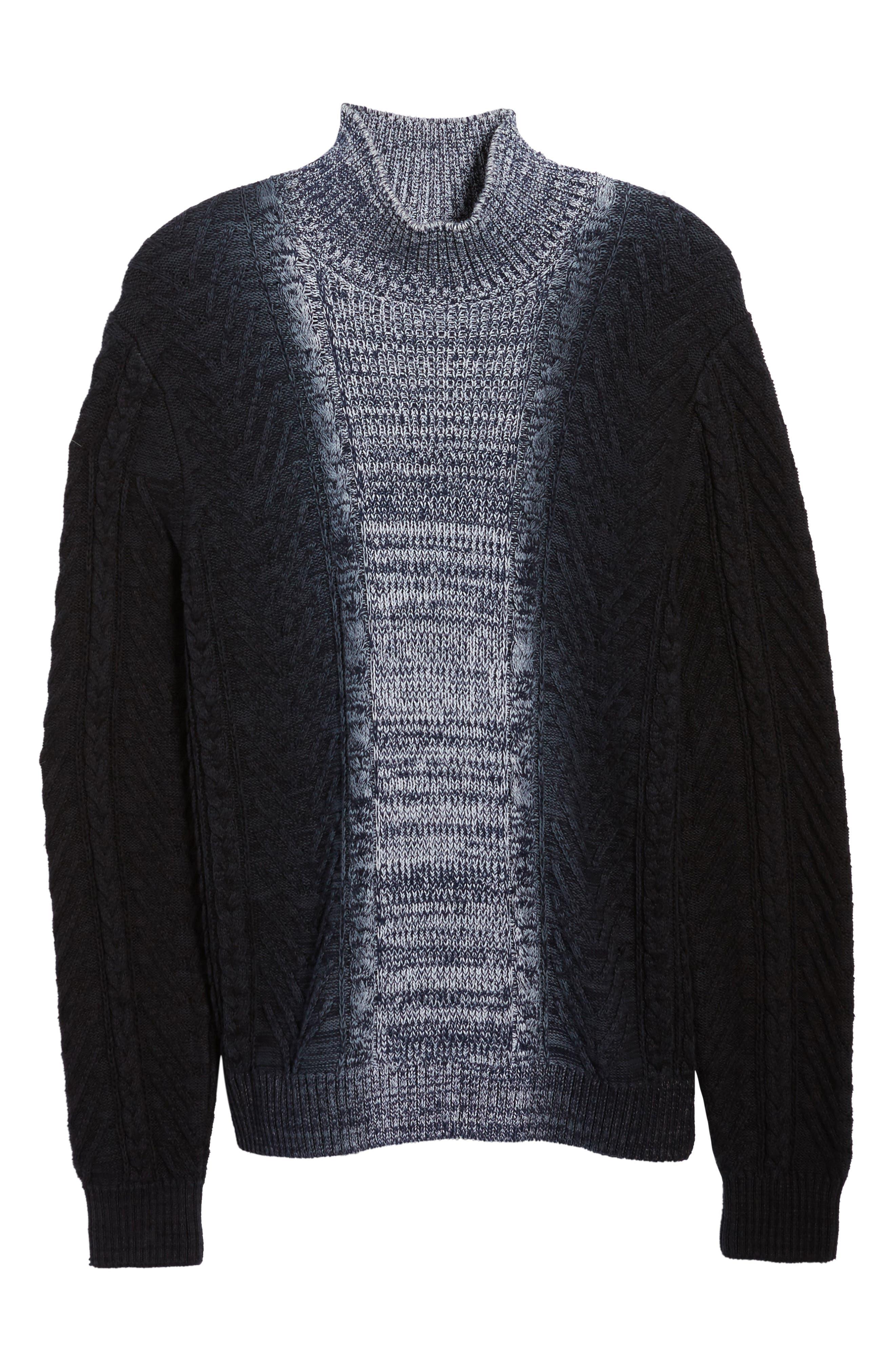 Alternate Image 6  - Vince Camuto Gradient Fade Turtleneck Sweater