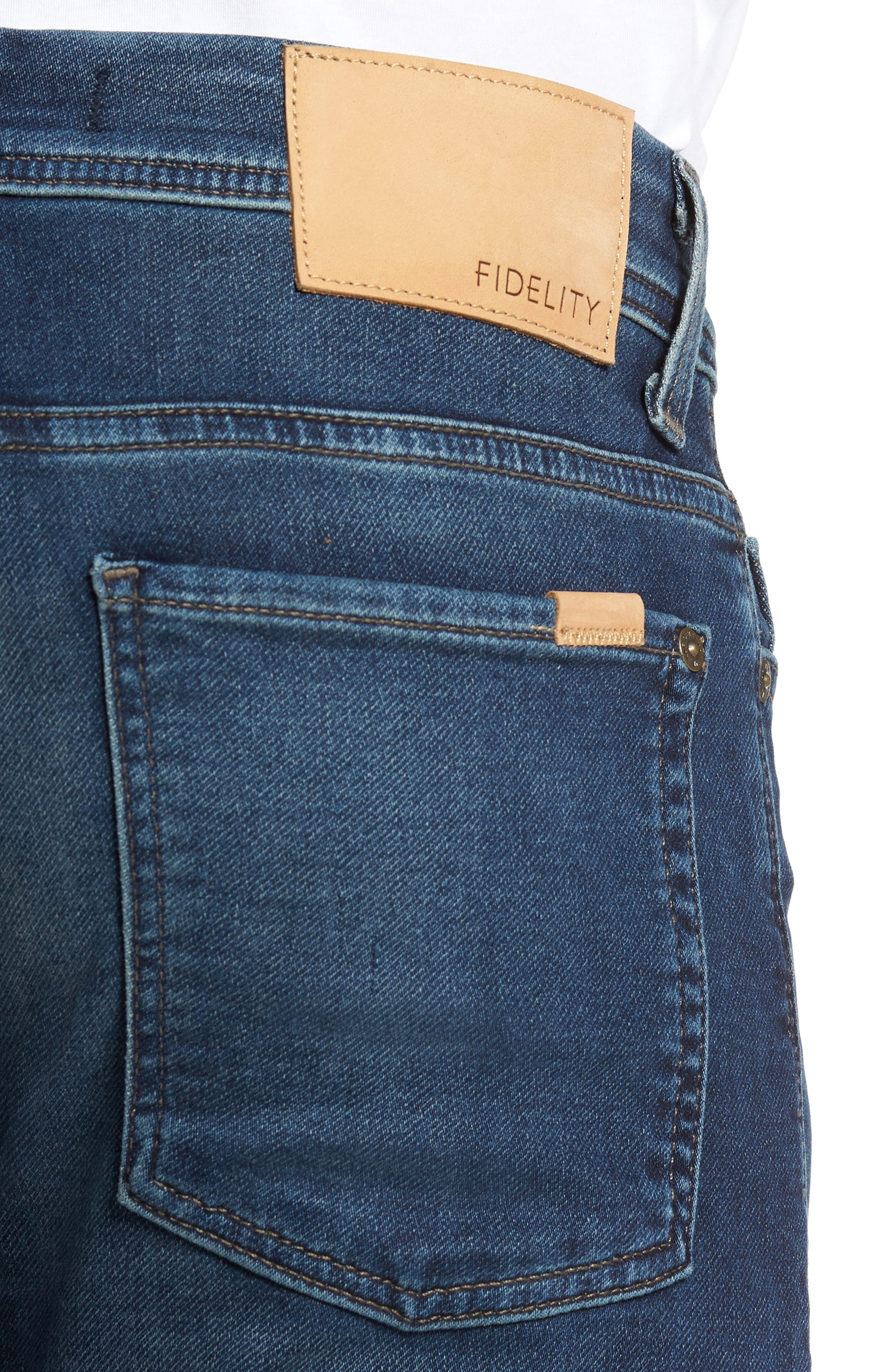 Jimmy Slim Straight Leg Jeans,                             Alternate thumbnail 4, color,                             Talk About Blue