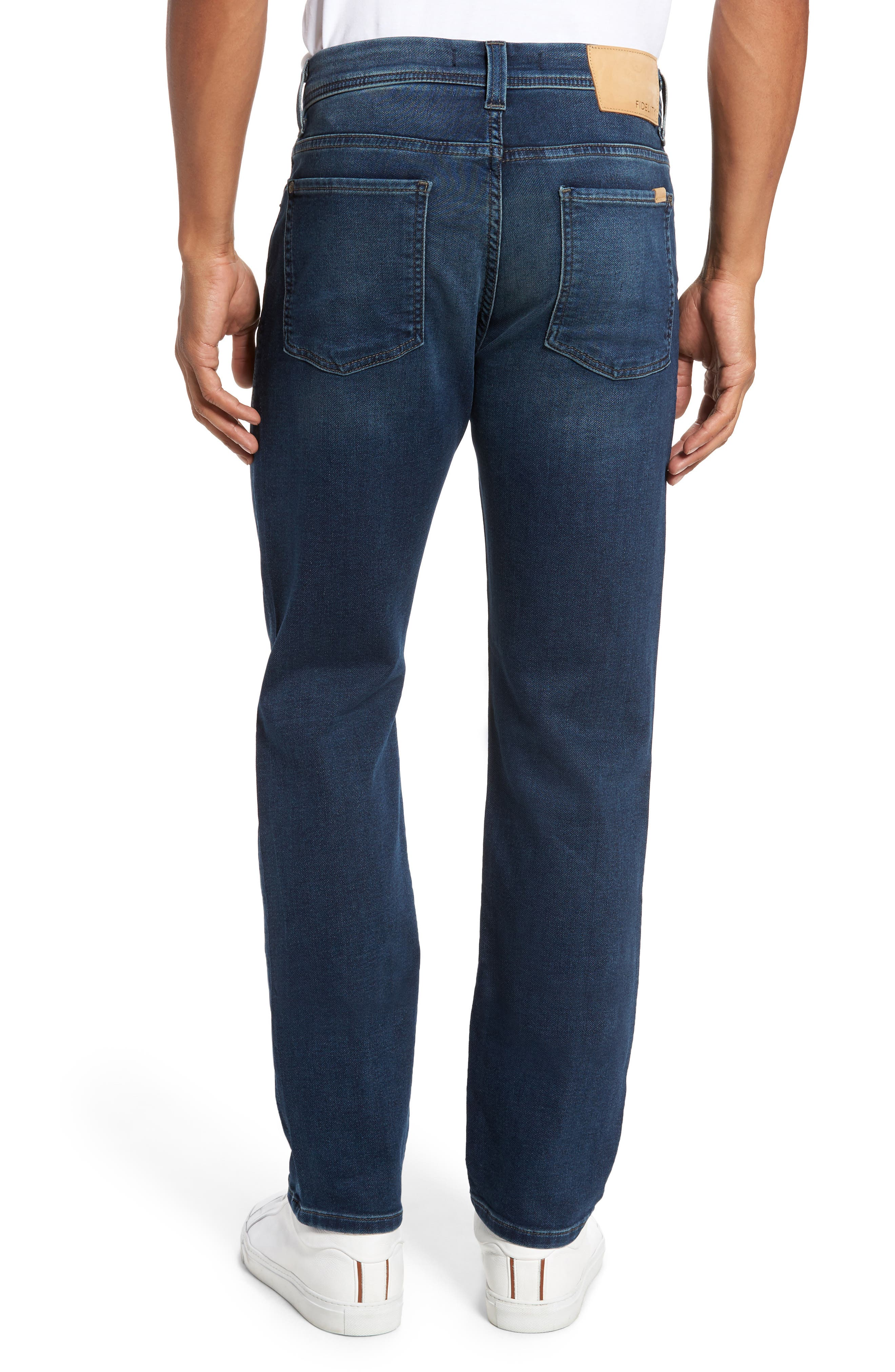 Jimmy Slim Straight Leg Jeans,                             Alternate thumbnail 2, color,                             Talk About Blue
