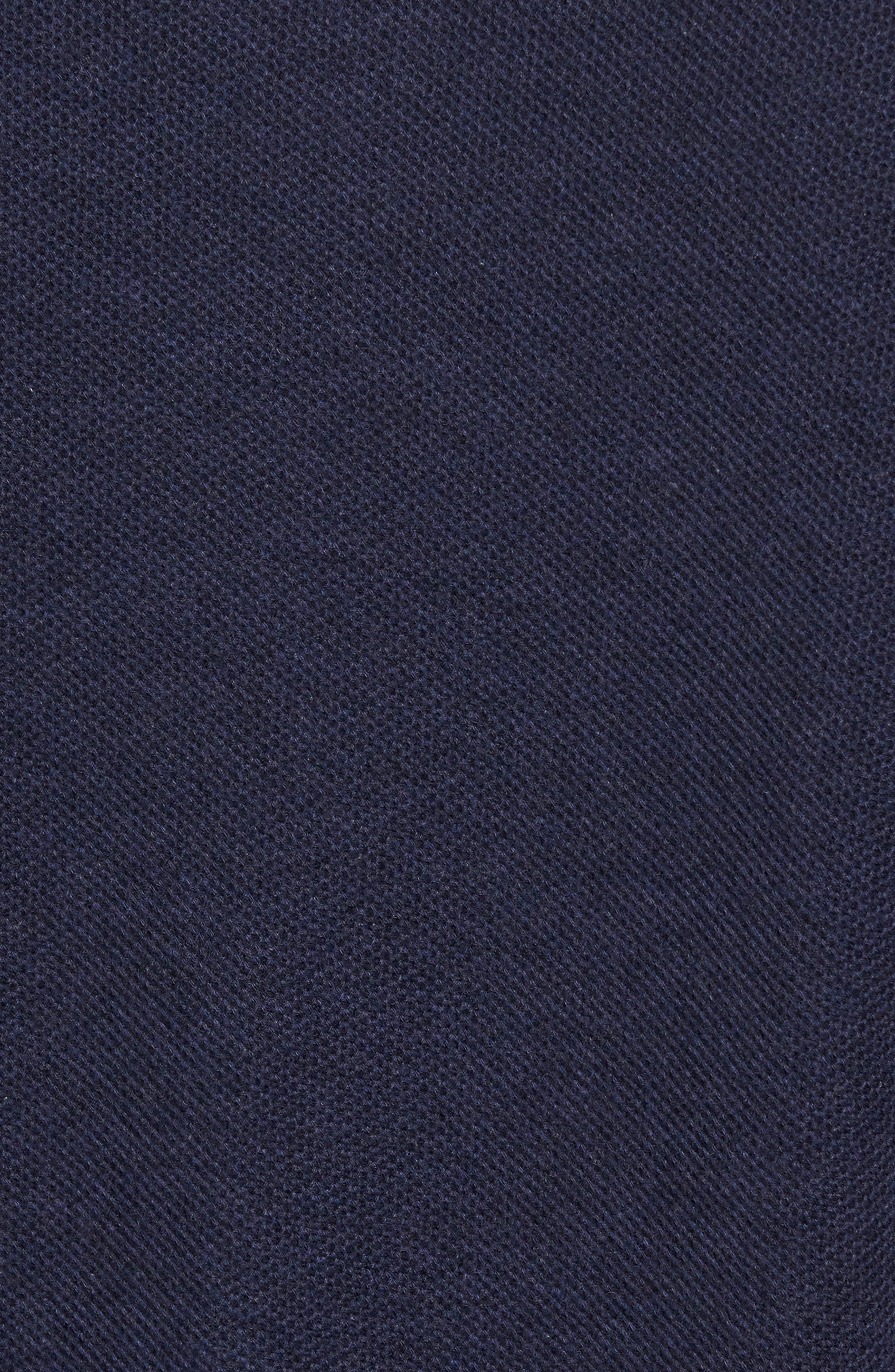 Colorblock Piqué Polo,                             Alternate thumbnail 5, color,                             Twisted French Navy Marl