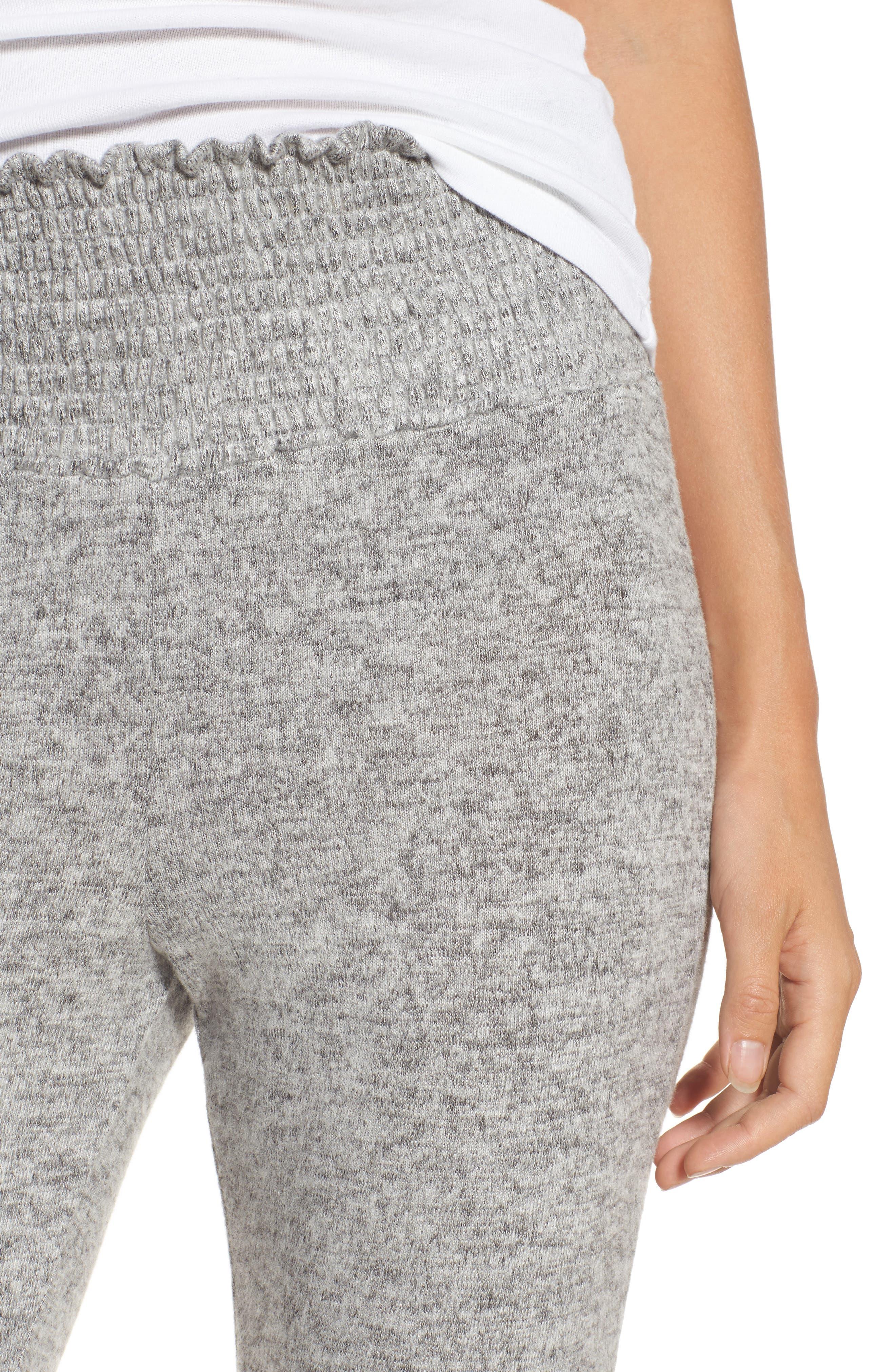 Alternate Image 4  - Hinge Smocked Waist Flare Leg Sweatpants