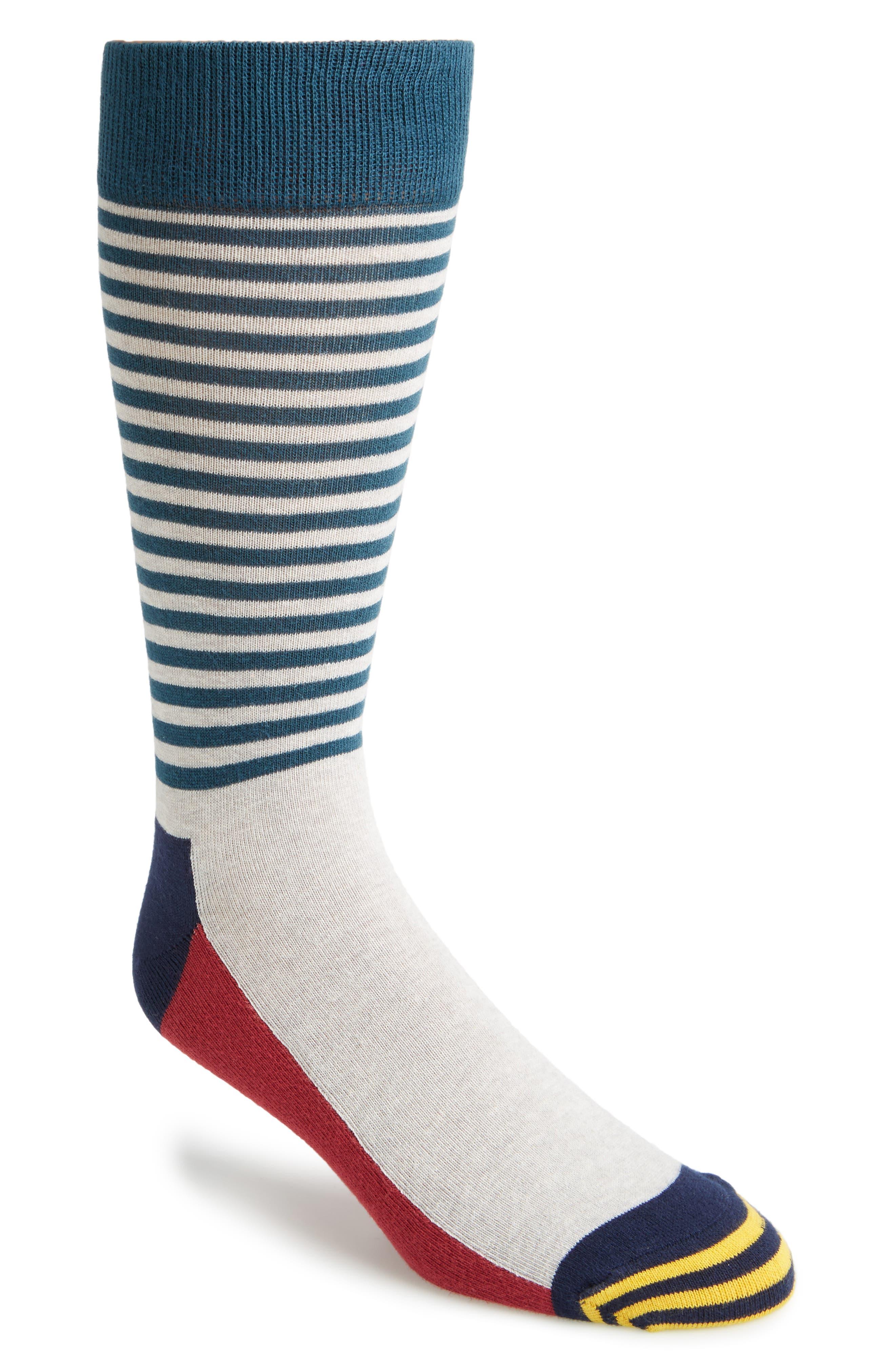 Happy Socks Colorblock Stripe Socks (3 for $30)