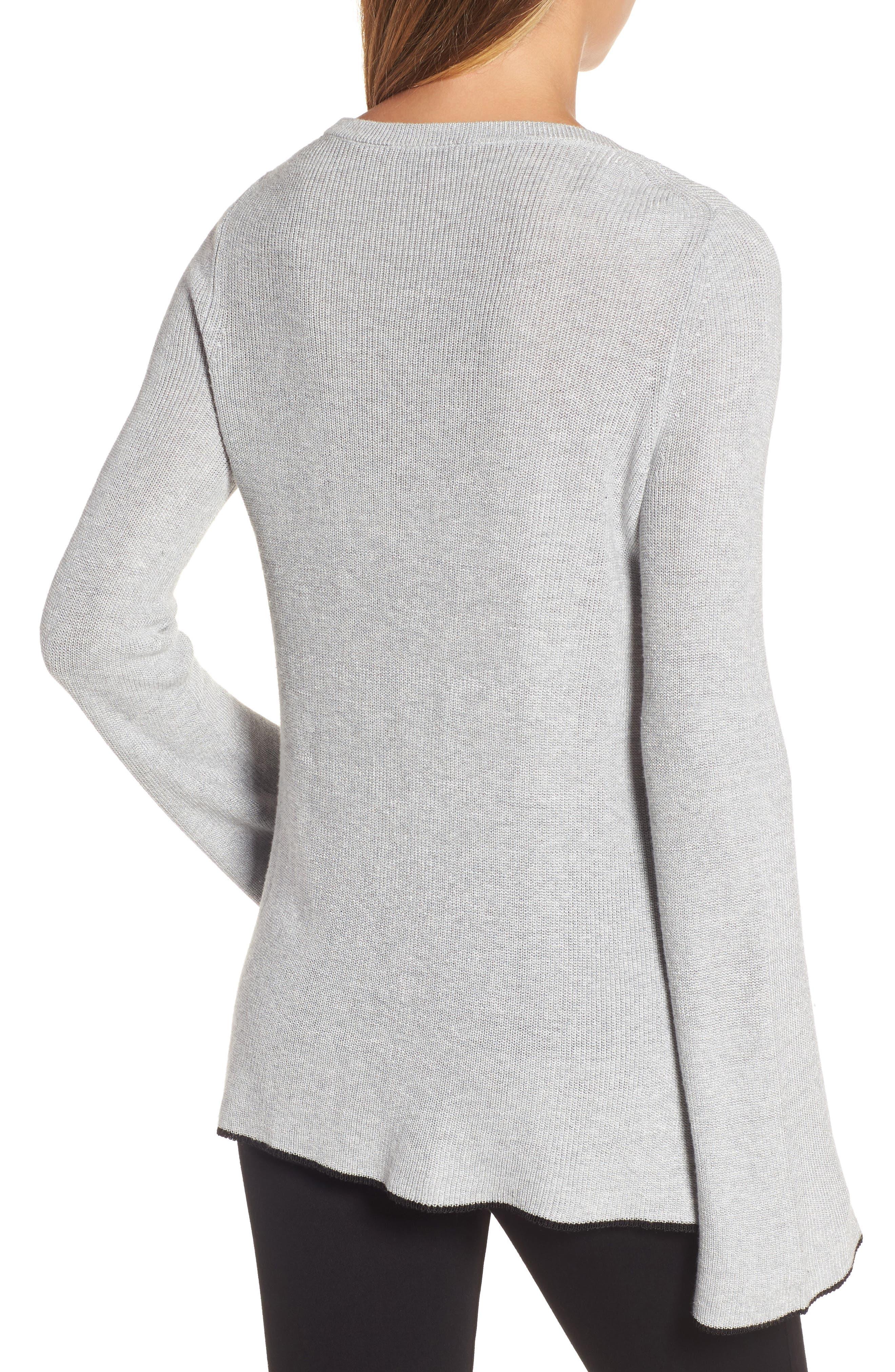 Alternate Image 2  - Vince Camuto Tipped Bell Sleeve Sweater (Regular & Petite)