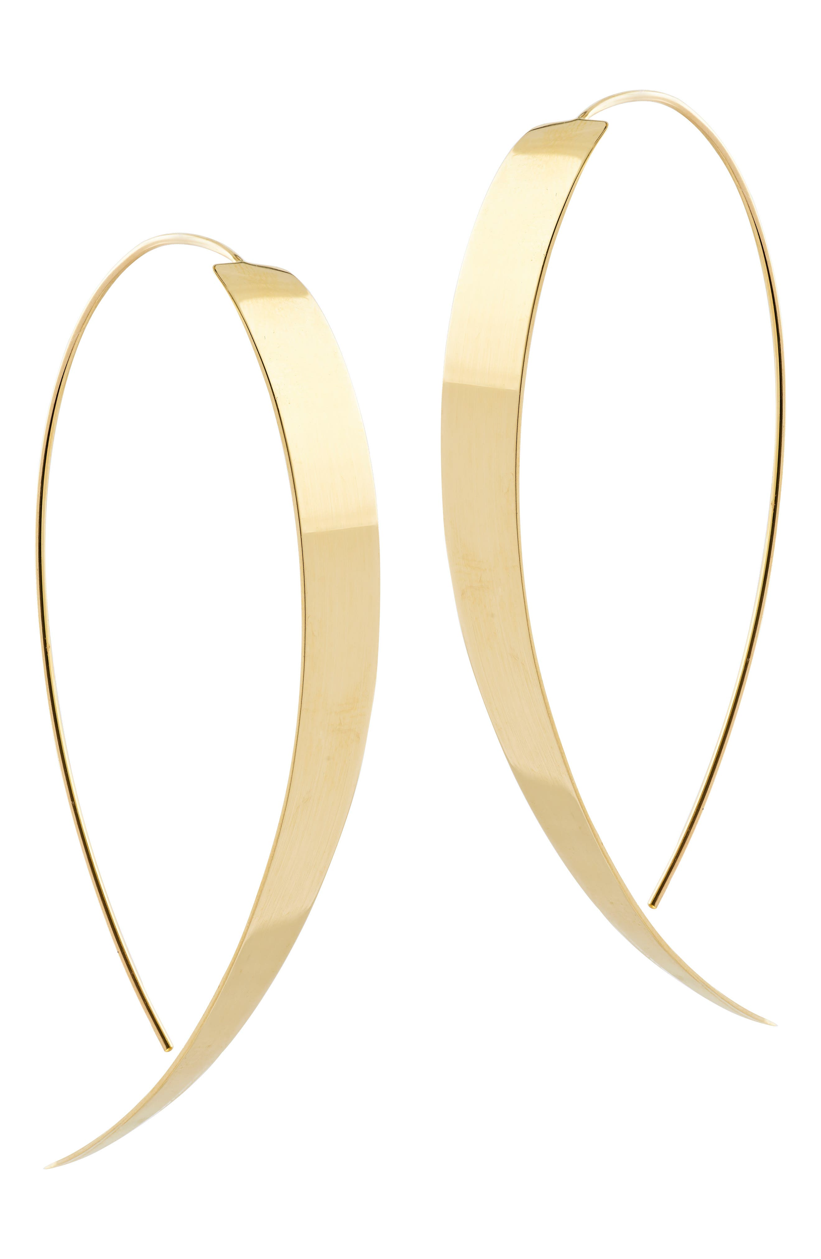 Large Vanity Threader Hoops,                         Main,                         color, Yellow Gold