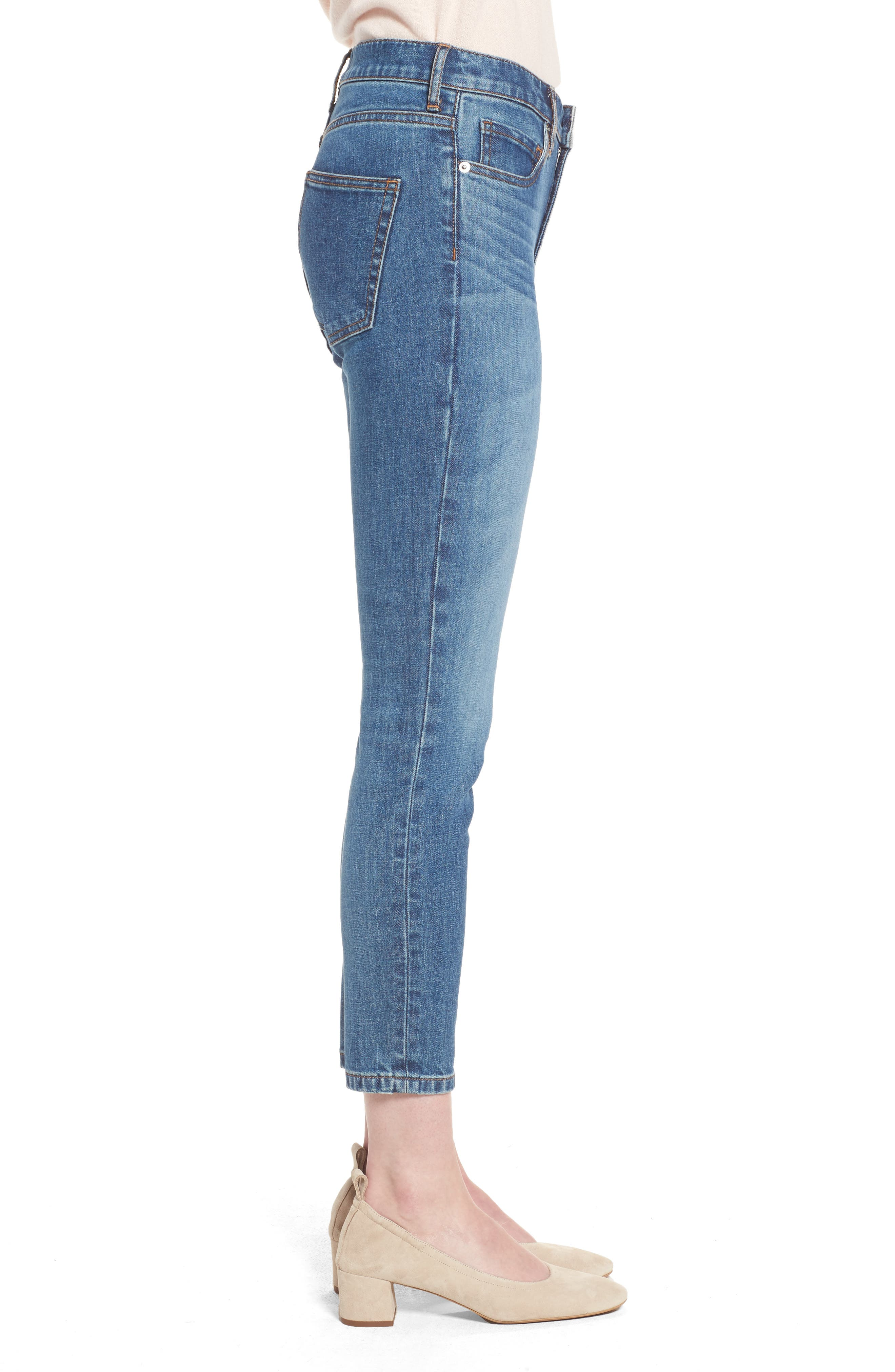 Alternate Image 3  - Everlane The Mid Rise Skinny Ankle Jeans