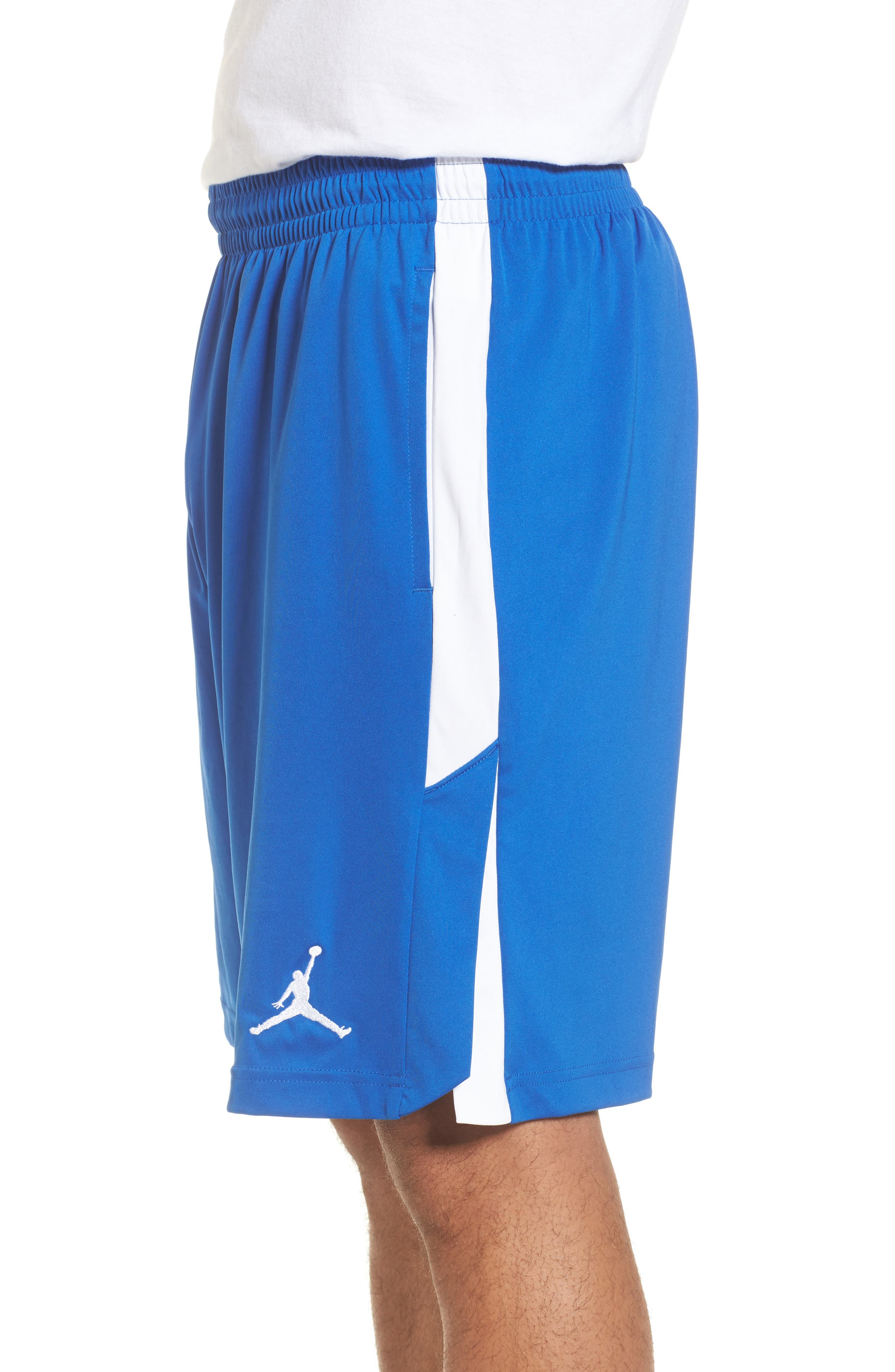 23 Alpha Dry Knit Shorts,                             Alternate thumbnail 3, color,                             Game Royal/ White