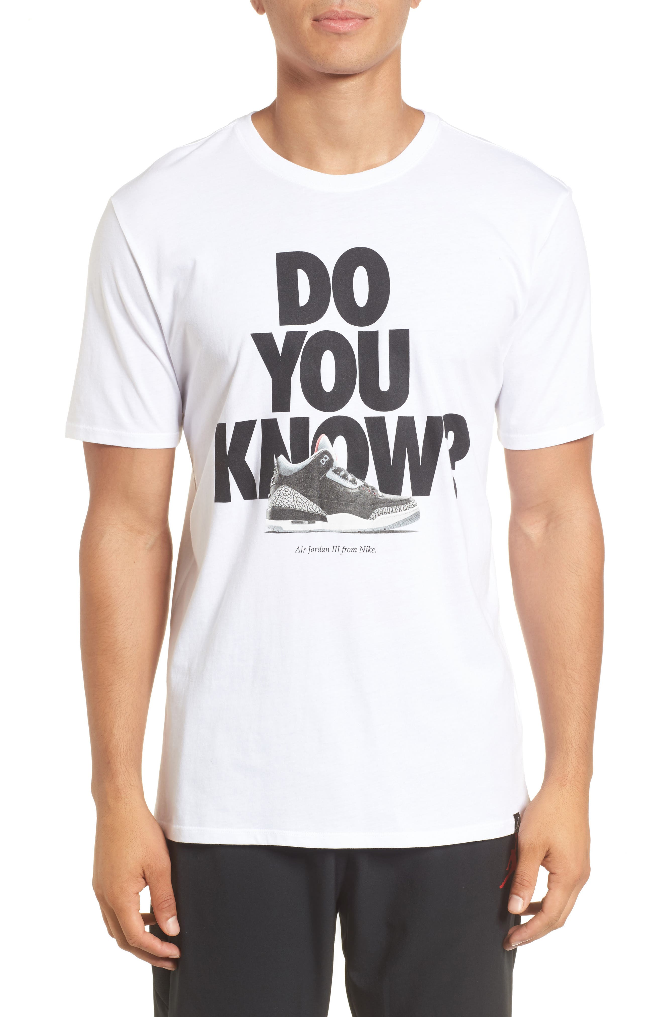 Do You Know Graphic T-Shirt,                             Main thumbnail 1, color,                             White/ Black