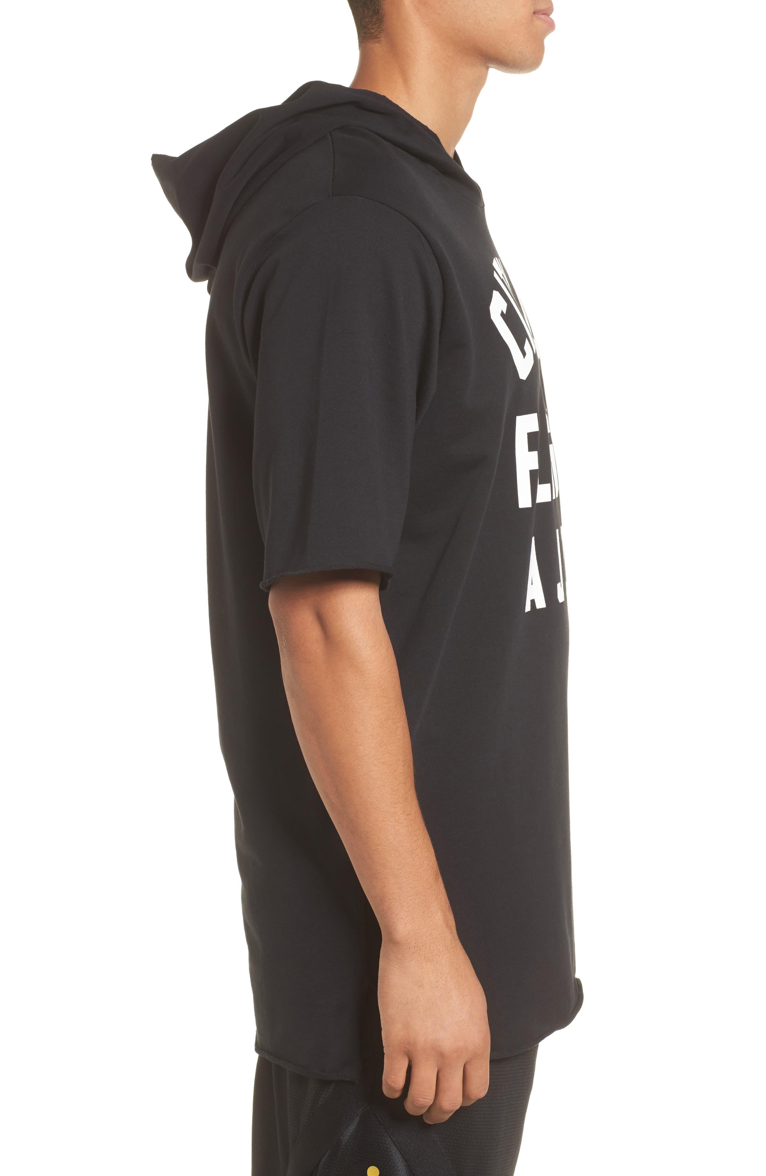 Sportswear City of Flight Hooded T-Shirt,                             Alternate thumbnail 3, color,                             Black/ White