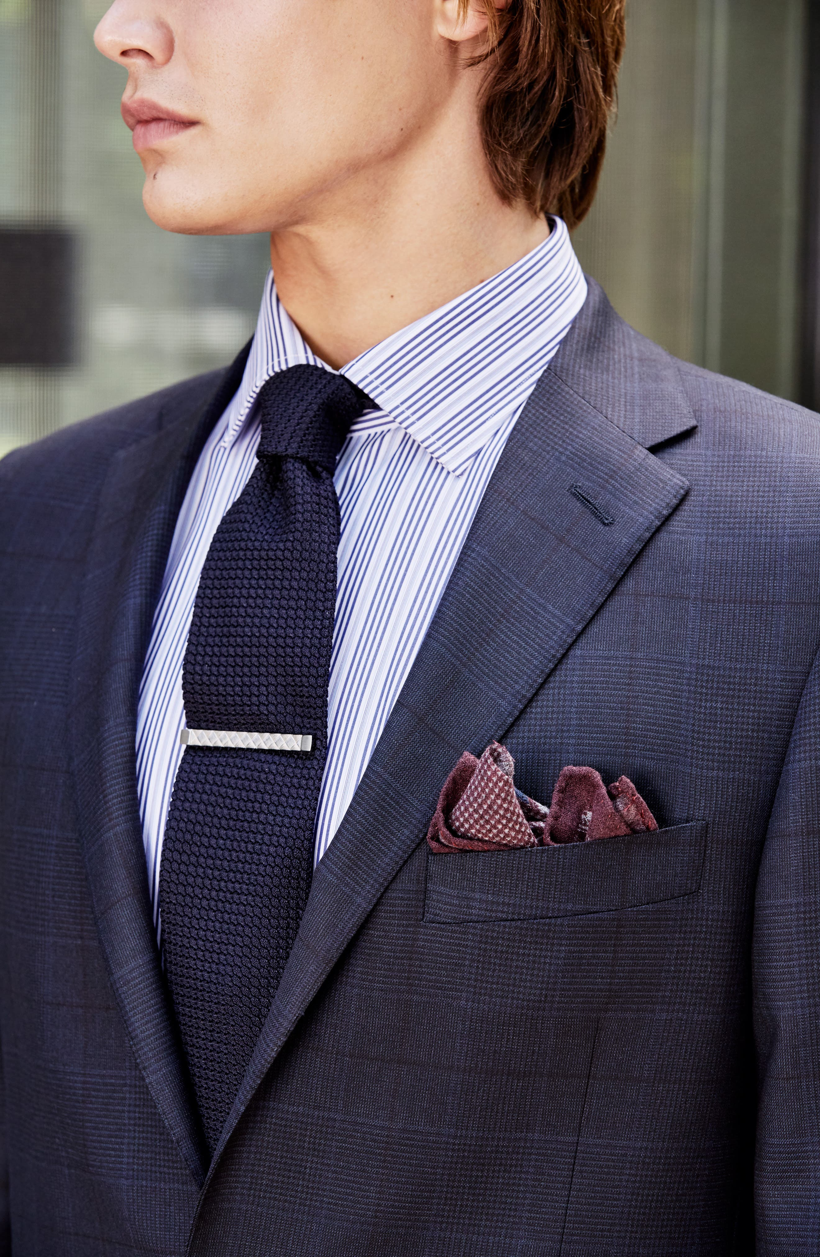 Alternate Image 8  - Hickey Freeman Classic B Fit Plaid Wool Suit