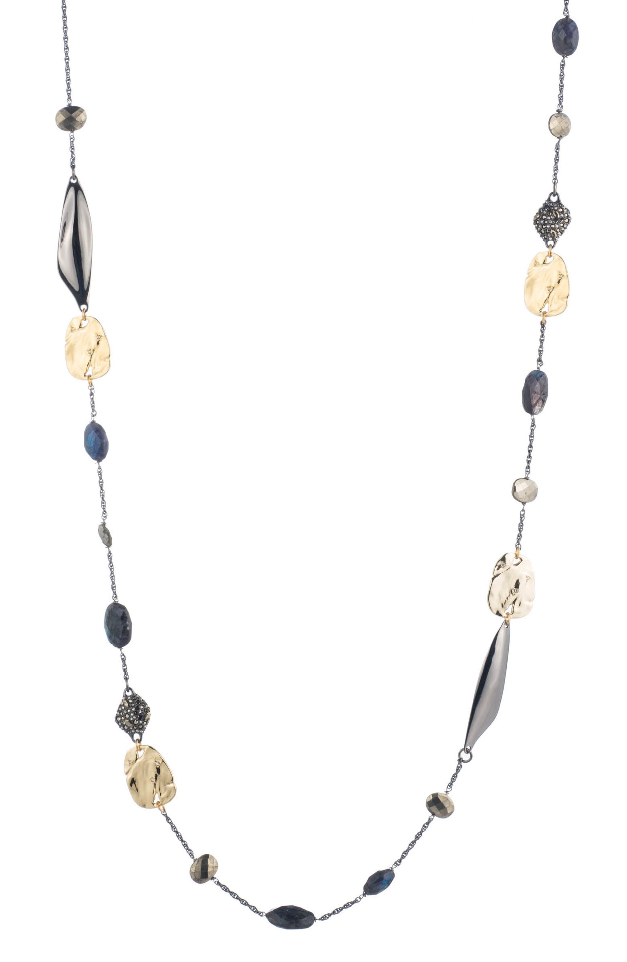 Elements Station Necklace,                         Main,                         color, Gold
