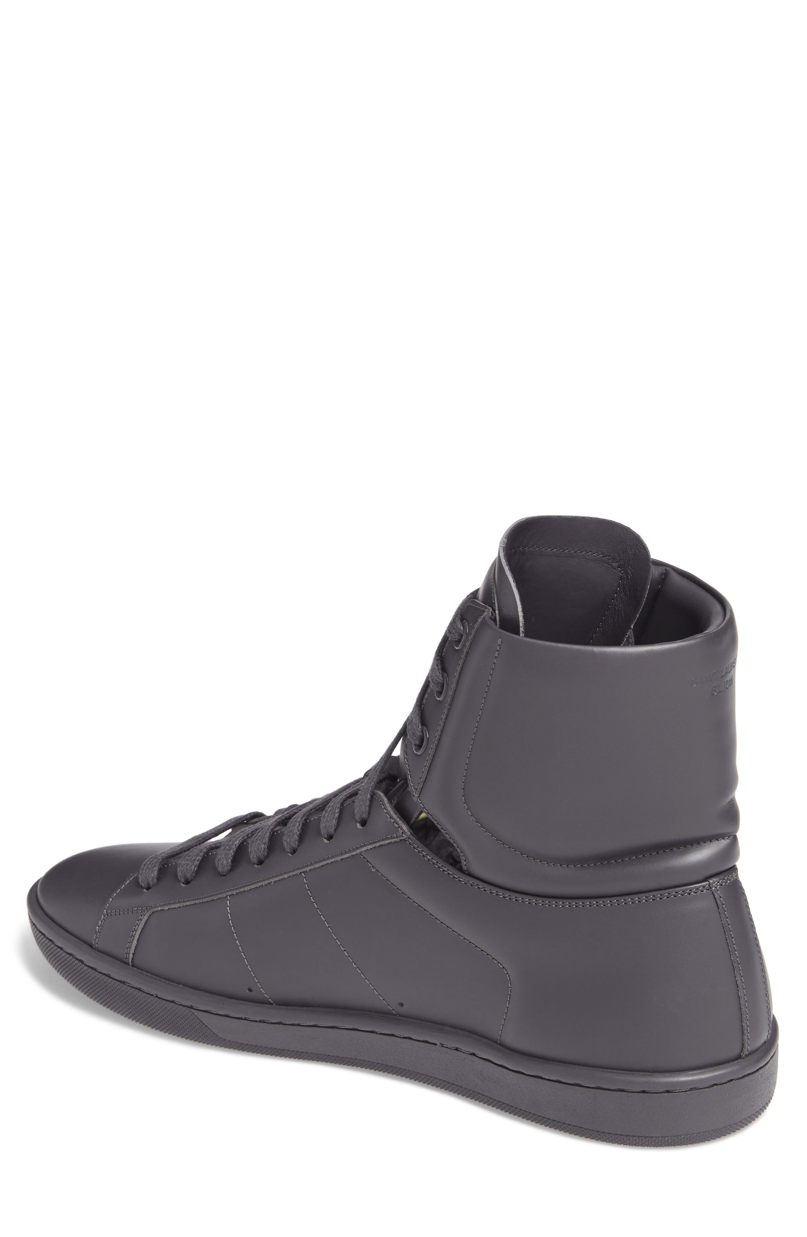 Signature Court Classic Sneaker,                             Alternate thumbnail 2, color,                             Grey Leather