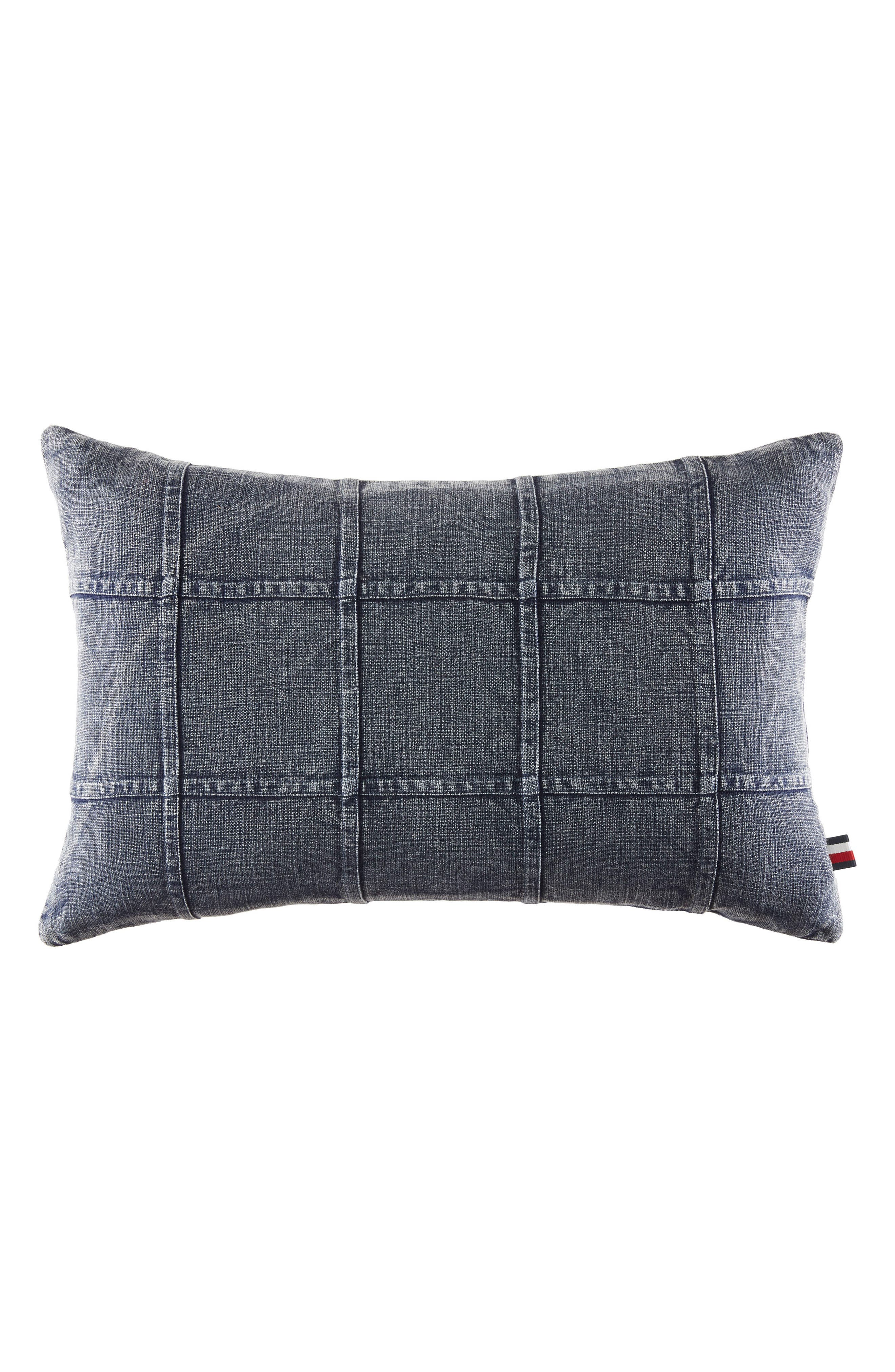 Main Image - Tommy Hilfiger Dusted Indigo Denim Accent Pillow