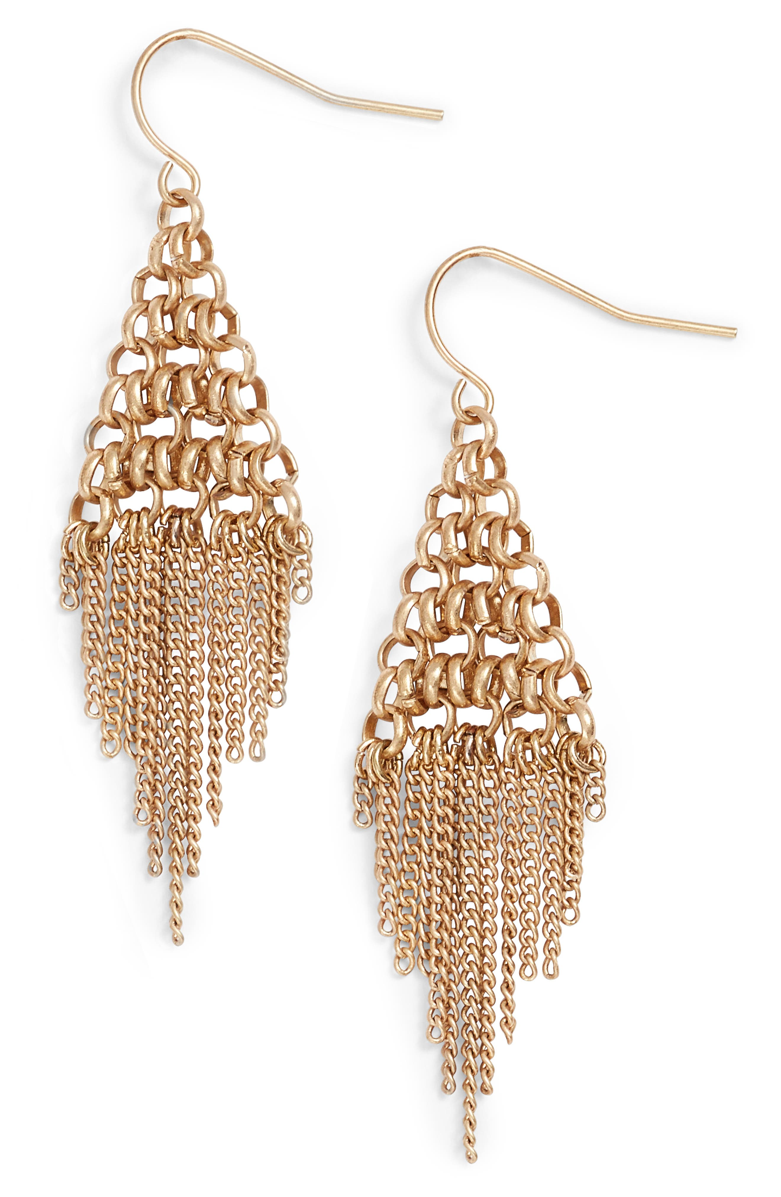 Treasure & Bond Fringe Kite Earrings