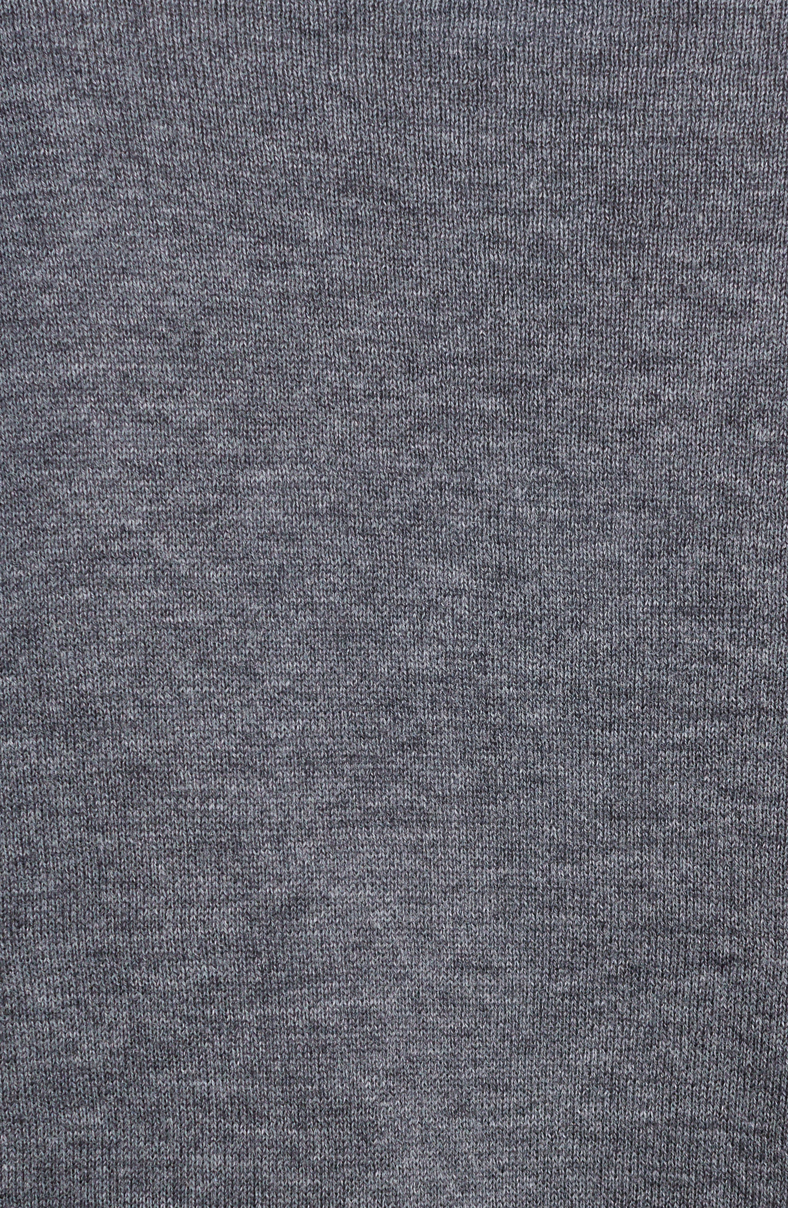 Check Tier Sleeve Sweater,                             Alternate thumbnail 5, color,                             Gray