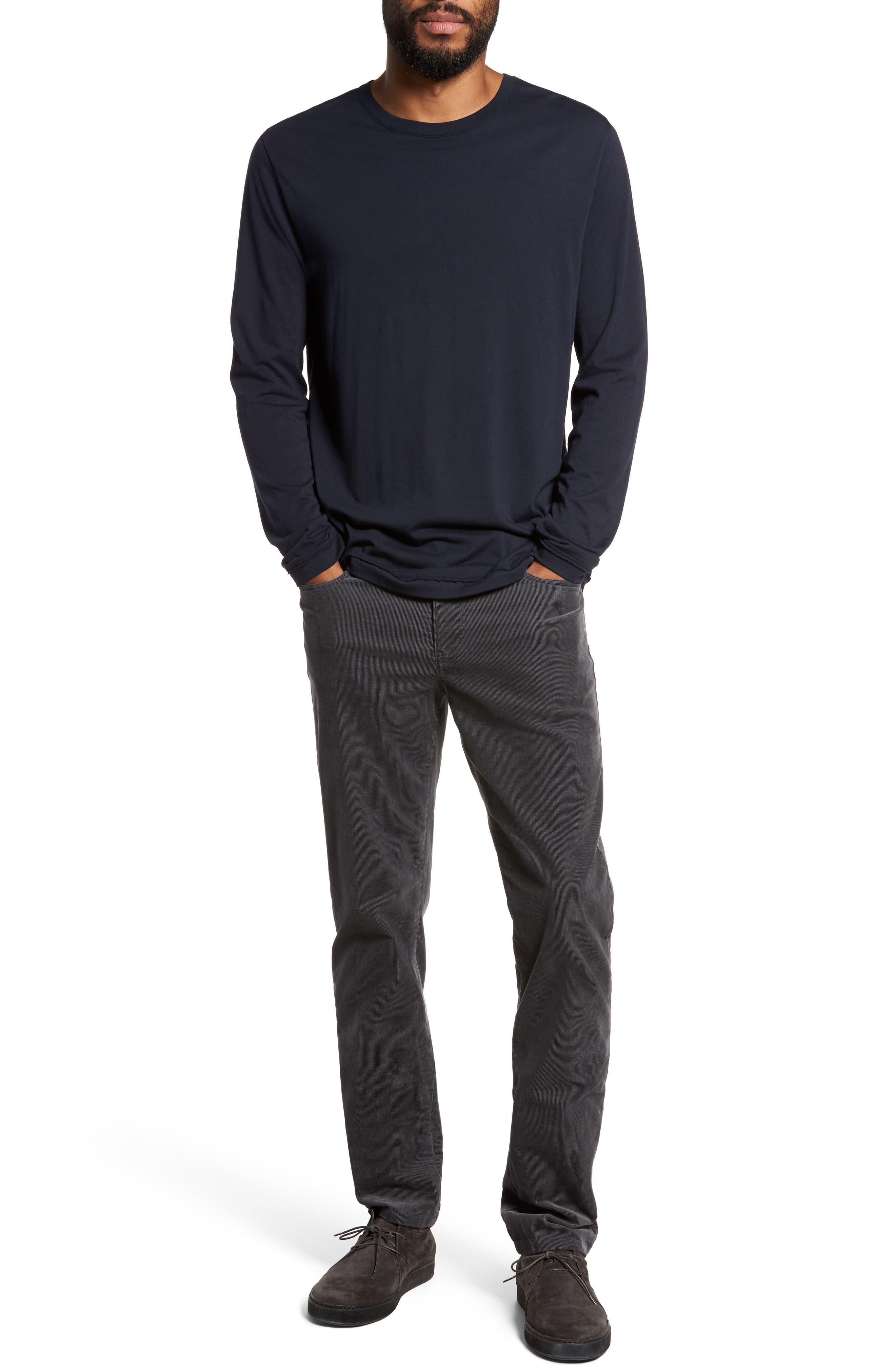 Five-Pocket Stretch Corduroy Pants,                             Alternate thumbnail 7, color,                             Granite