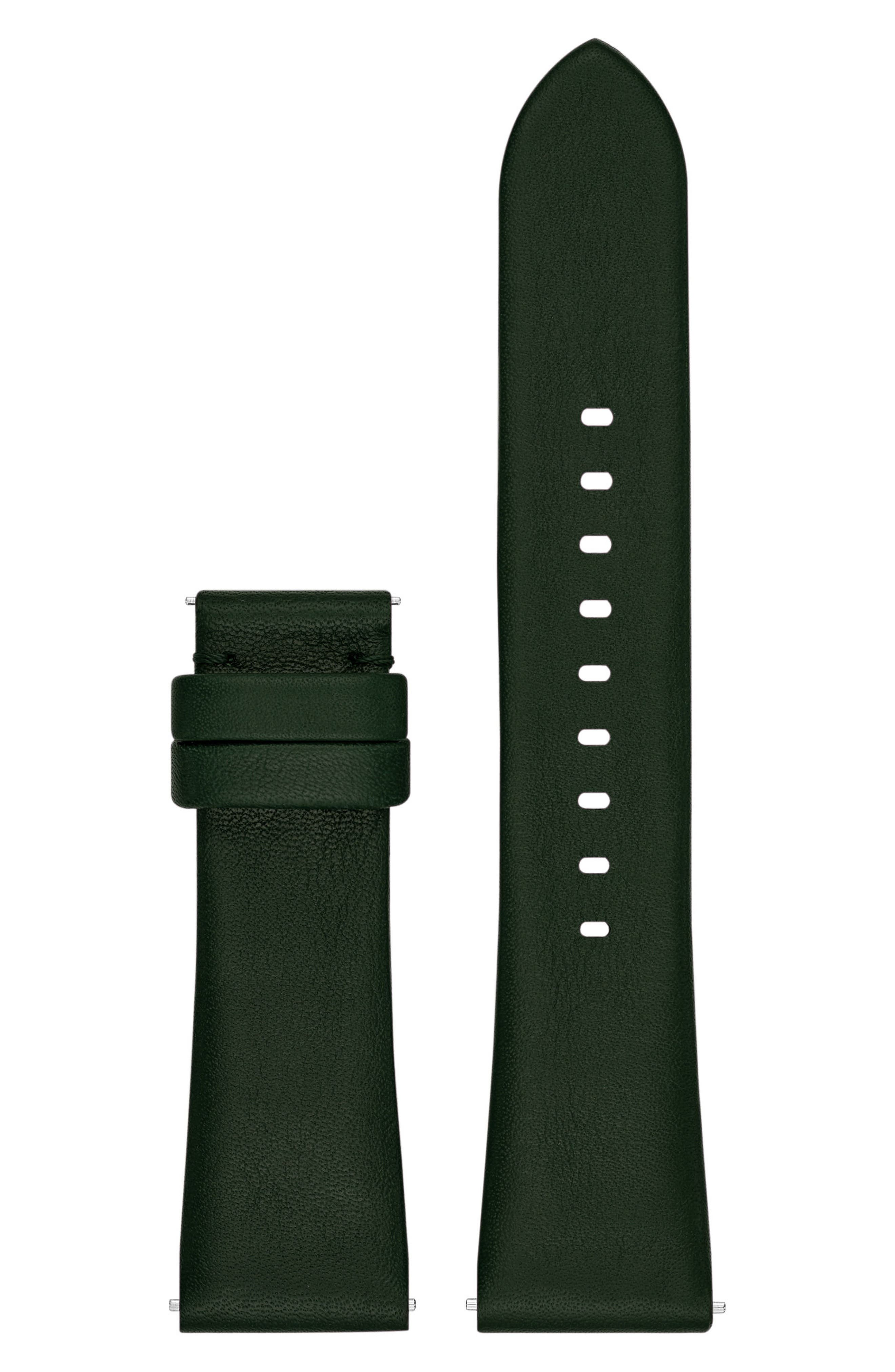Bradshaw 22mm Leather Watch Strap,                         Main,                         color, Olive