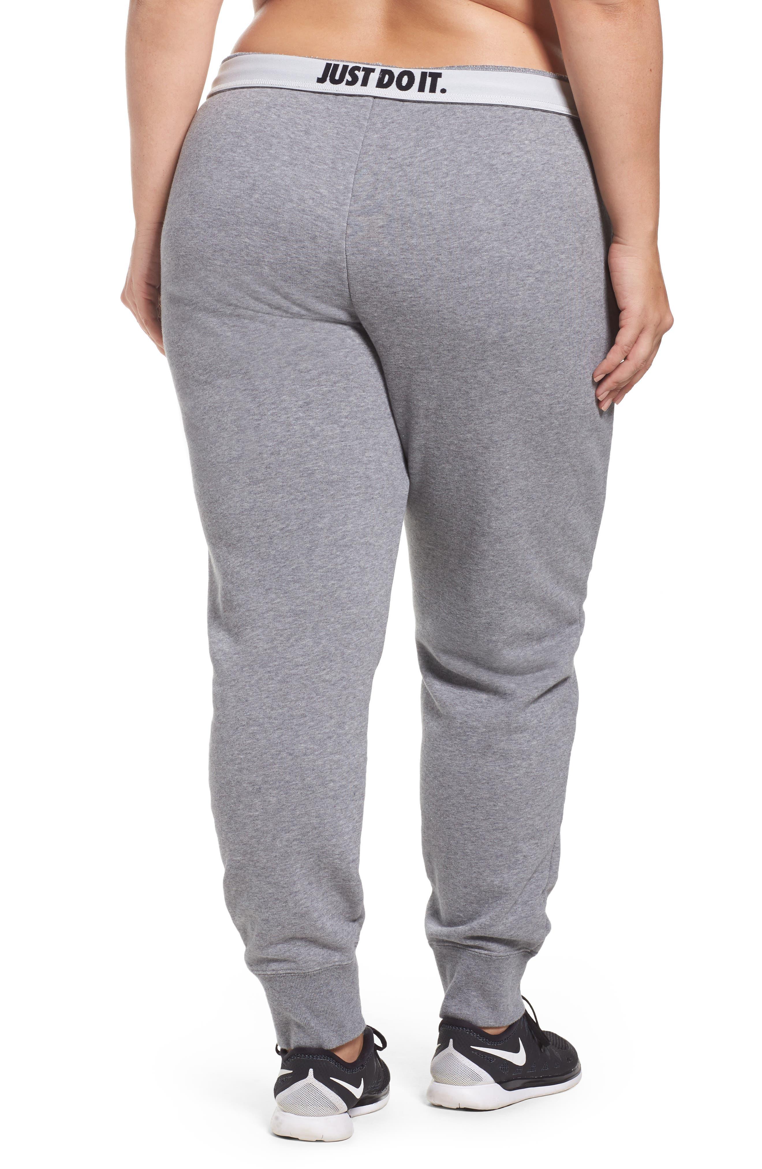 Alternate Image 2  - Nike Drawstring Fleece Pants (Plus Size)