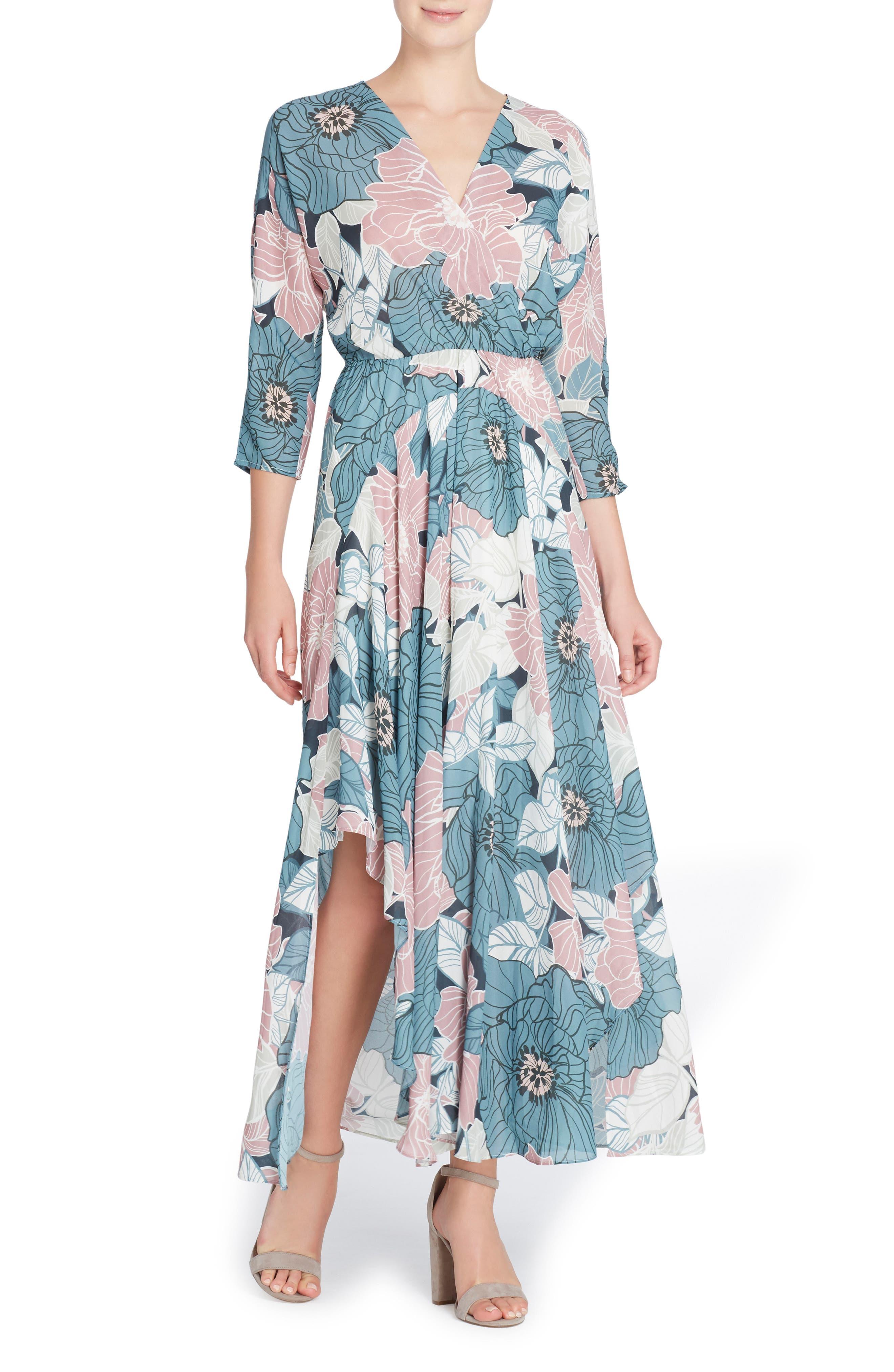 Larissa Chiffon Maxi Dress,                         Main,                         color, Sketchy Floral