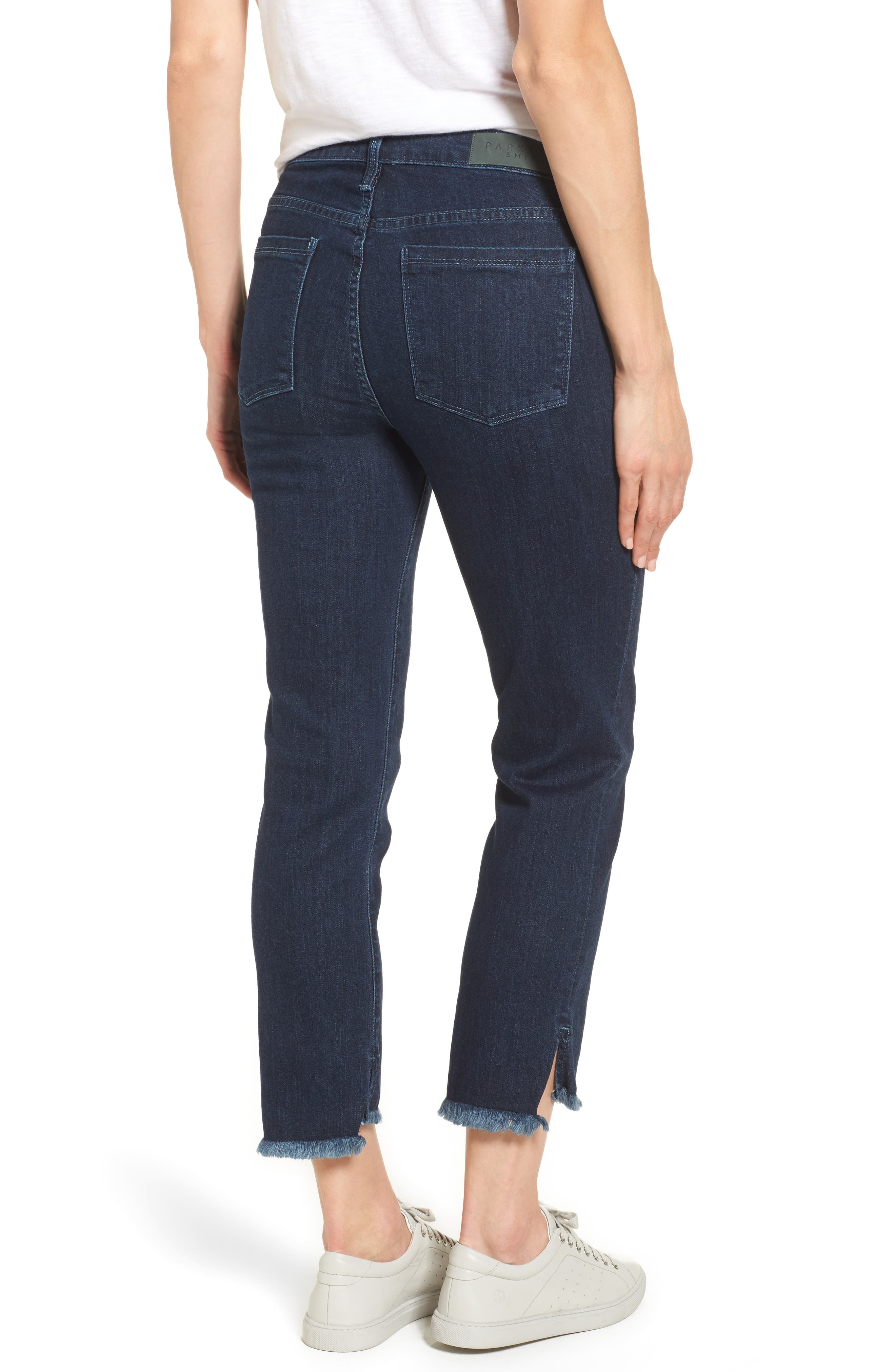 Step-Hem Straight Jeans,                             Alternate thumbnail 2, color,                             Baltic