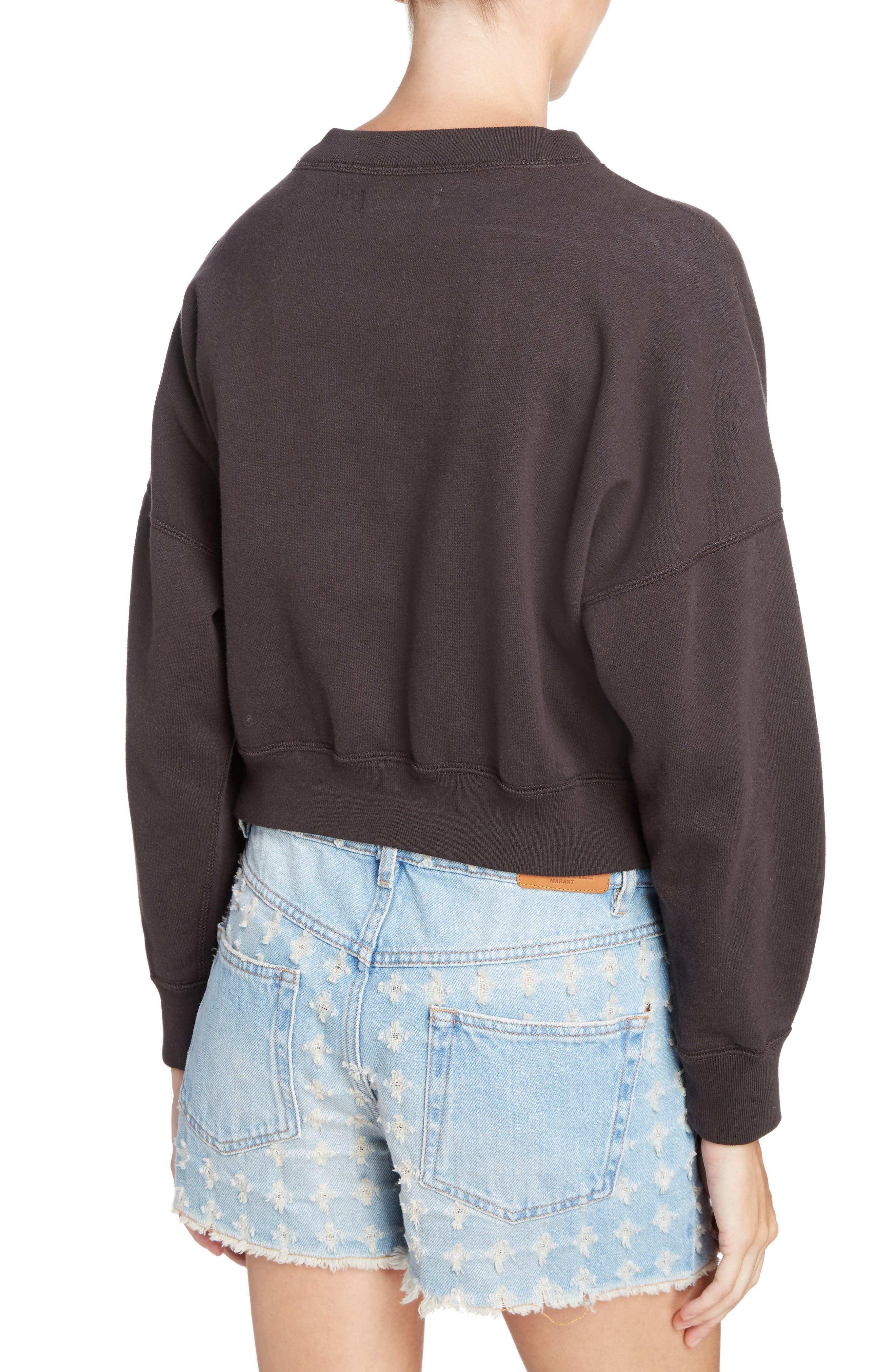 Isabel Marant Étoile Odilon Sweatshirt,                             Alternate thumbnail 2, color,                             Faded Black