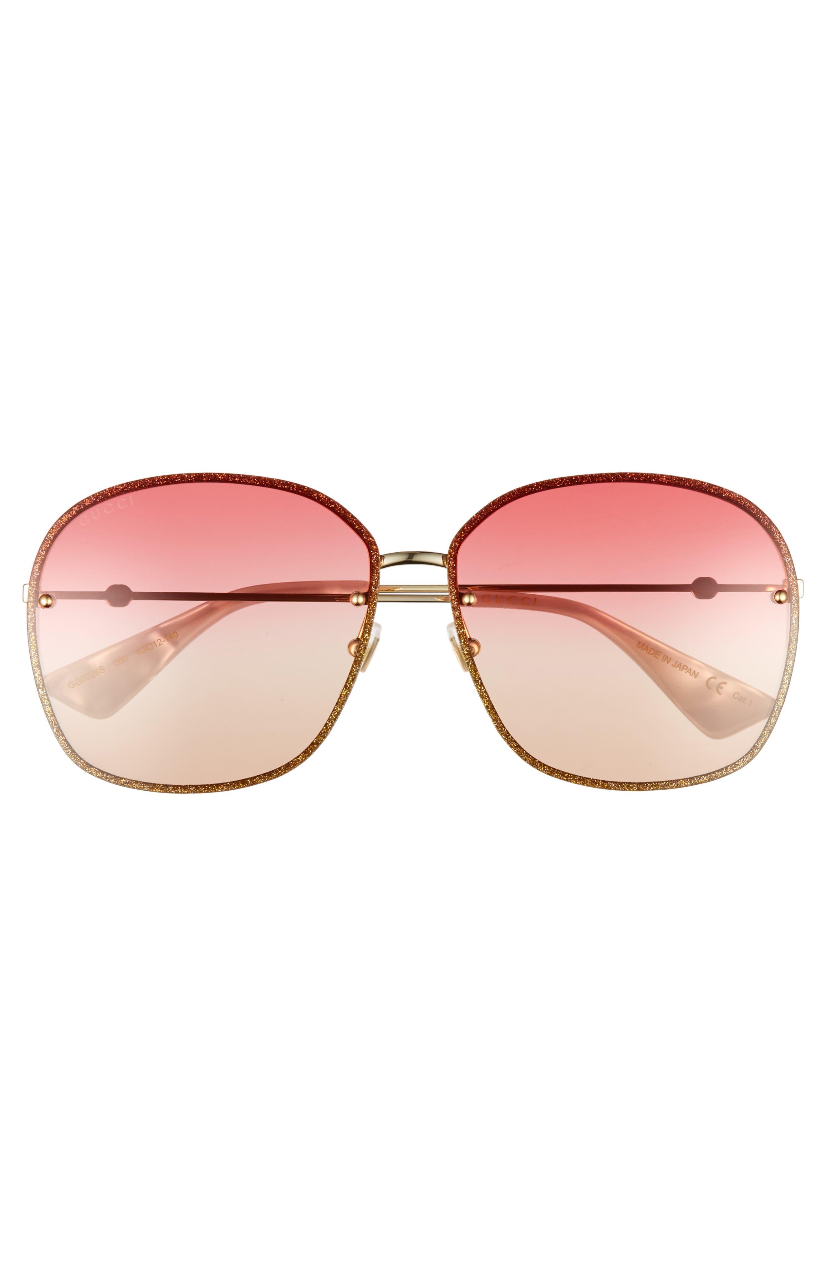 Alternate Image 3  - Gucci 63mm Oversize Square Sunglasses