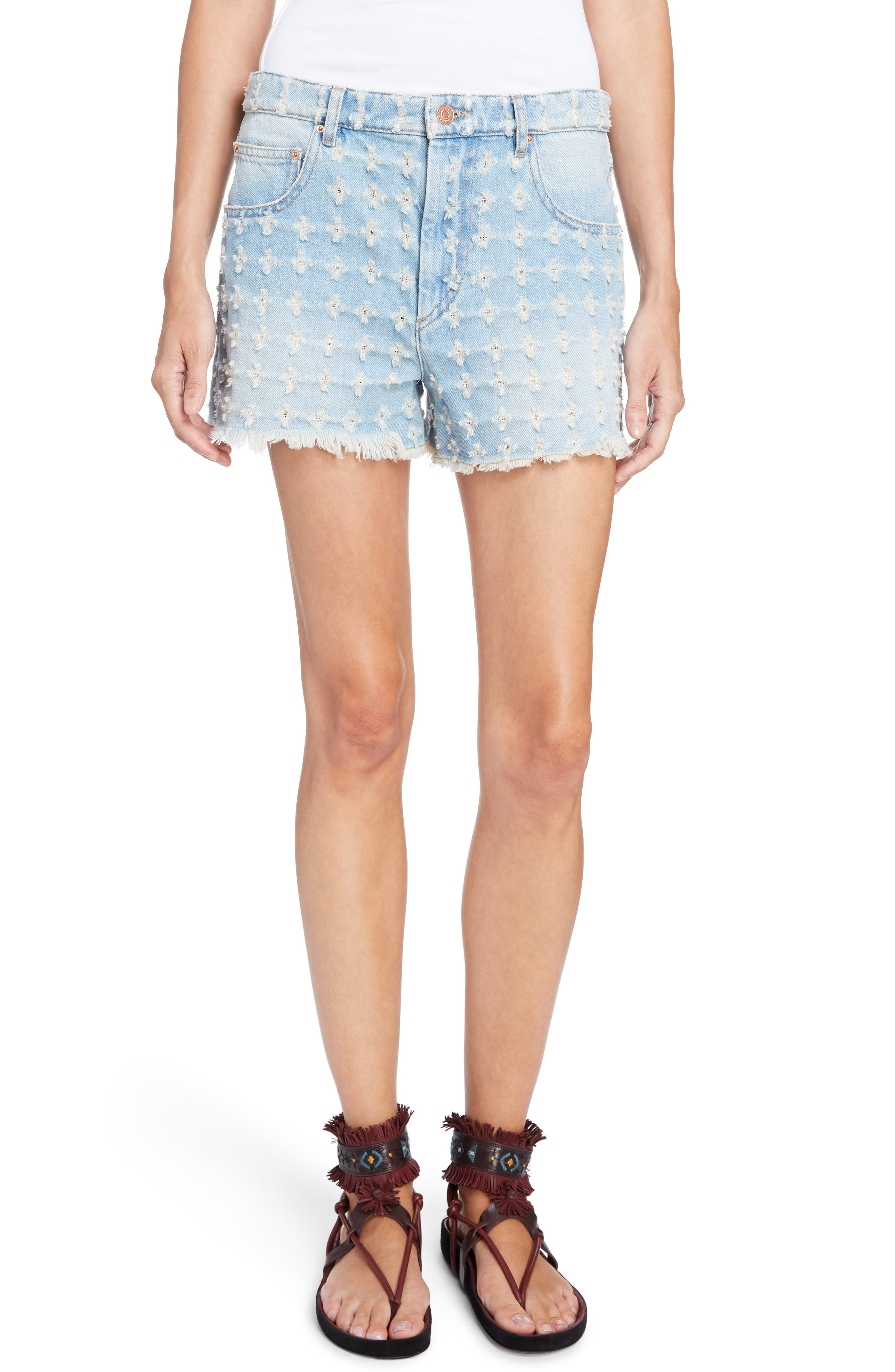 Isabel Marant Étoile Ripped Denim Shorts