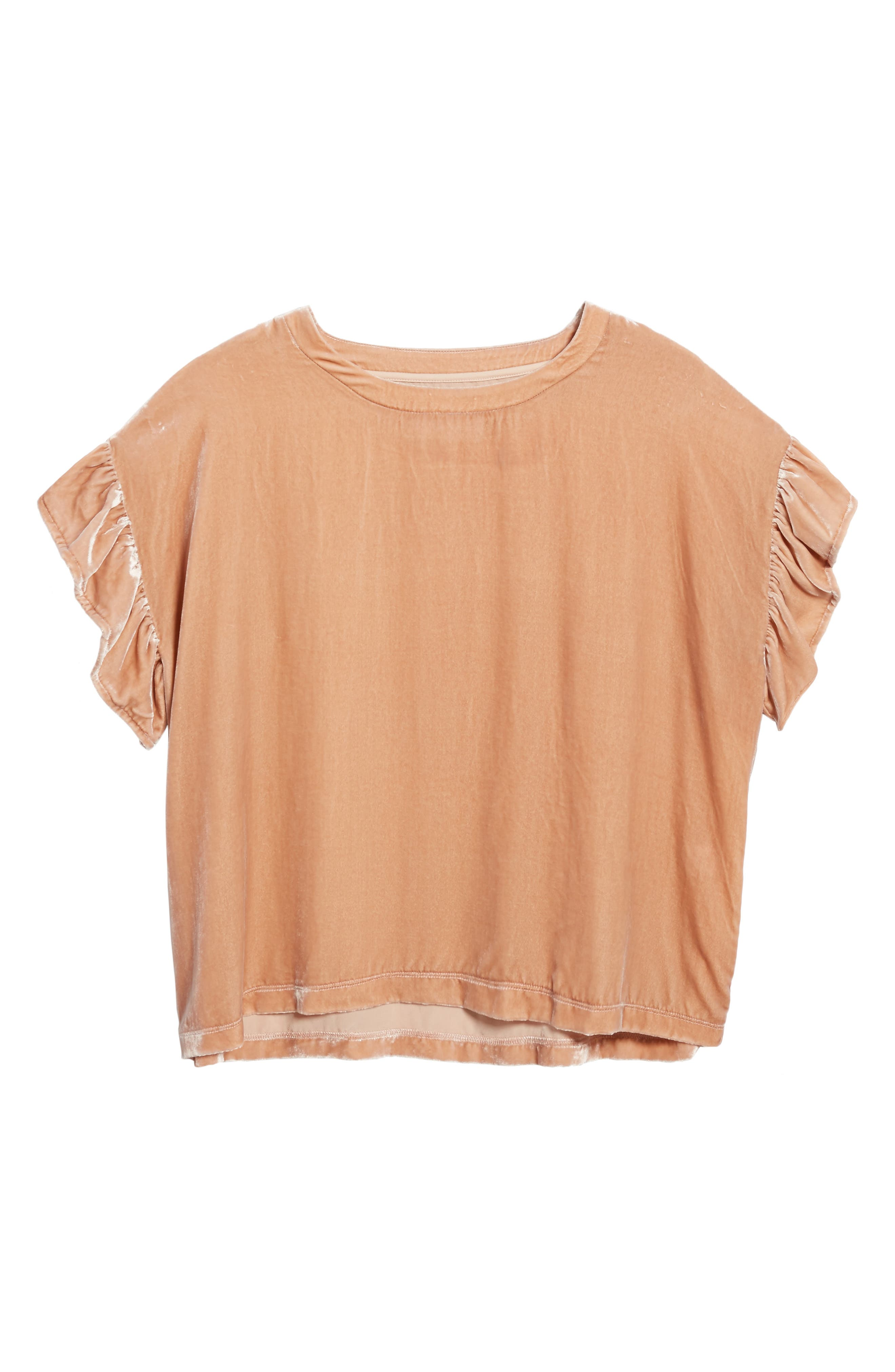 The Janie Velvet Top,                             Alternate thumbnail 6, color,                             Muted Misty Rose