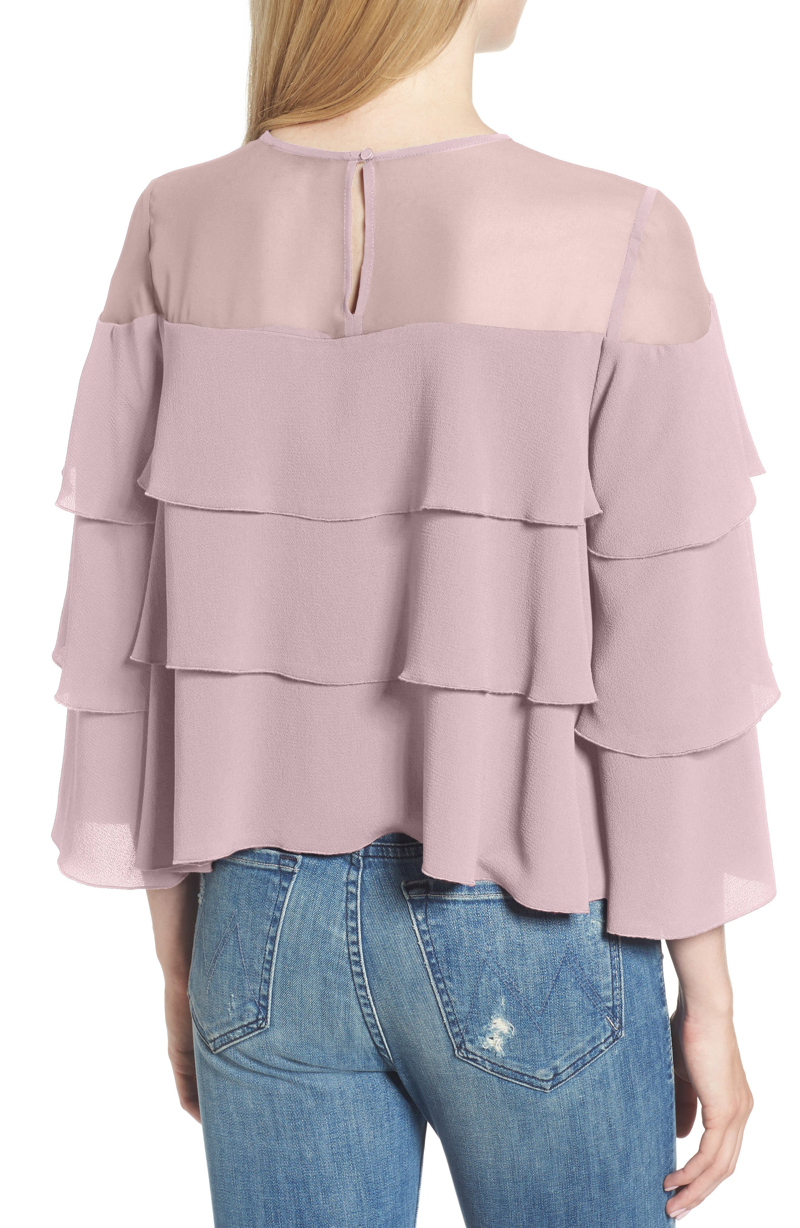 Medena Tiered Ruffle Top,                             Alternate thumbnail 2, color,                             Pale Lavender
