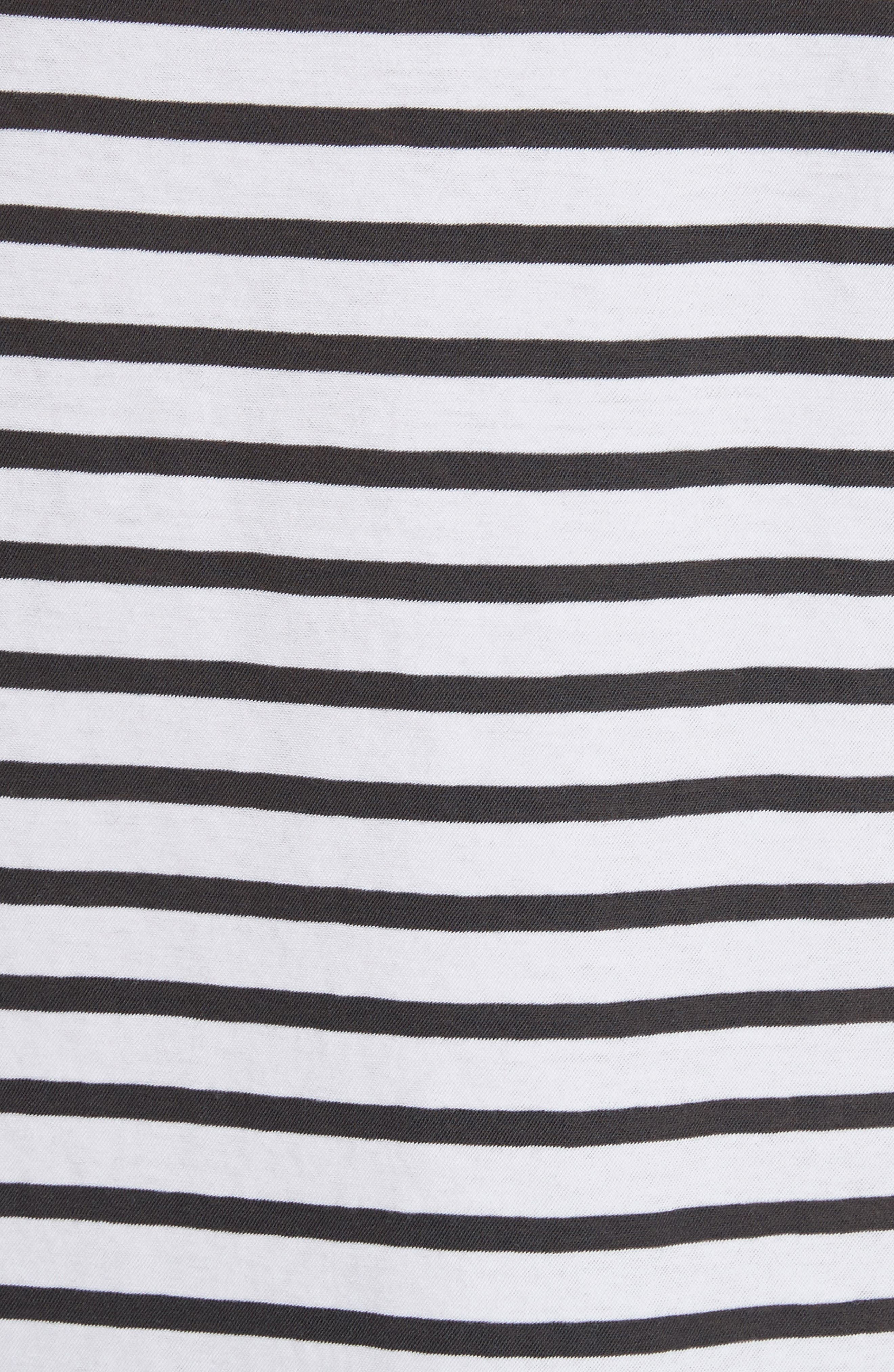 Mila Stripe Tee,                             Alternate thumbnail 5, color,                             White / Coal