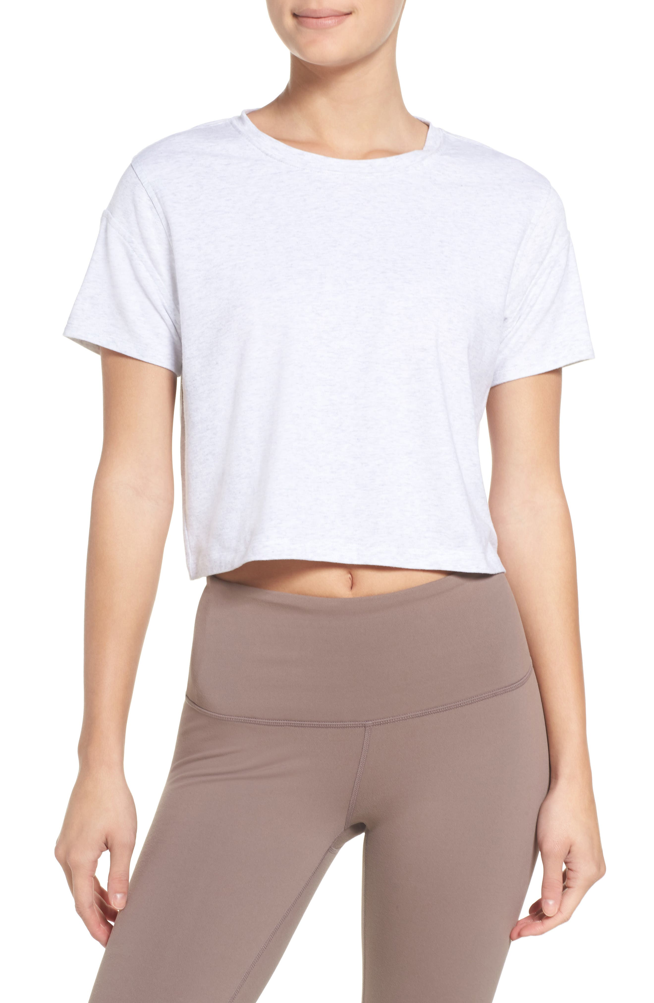 Flexy Tee,                         Main,                         color, White Heather