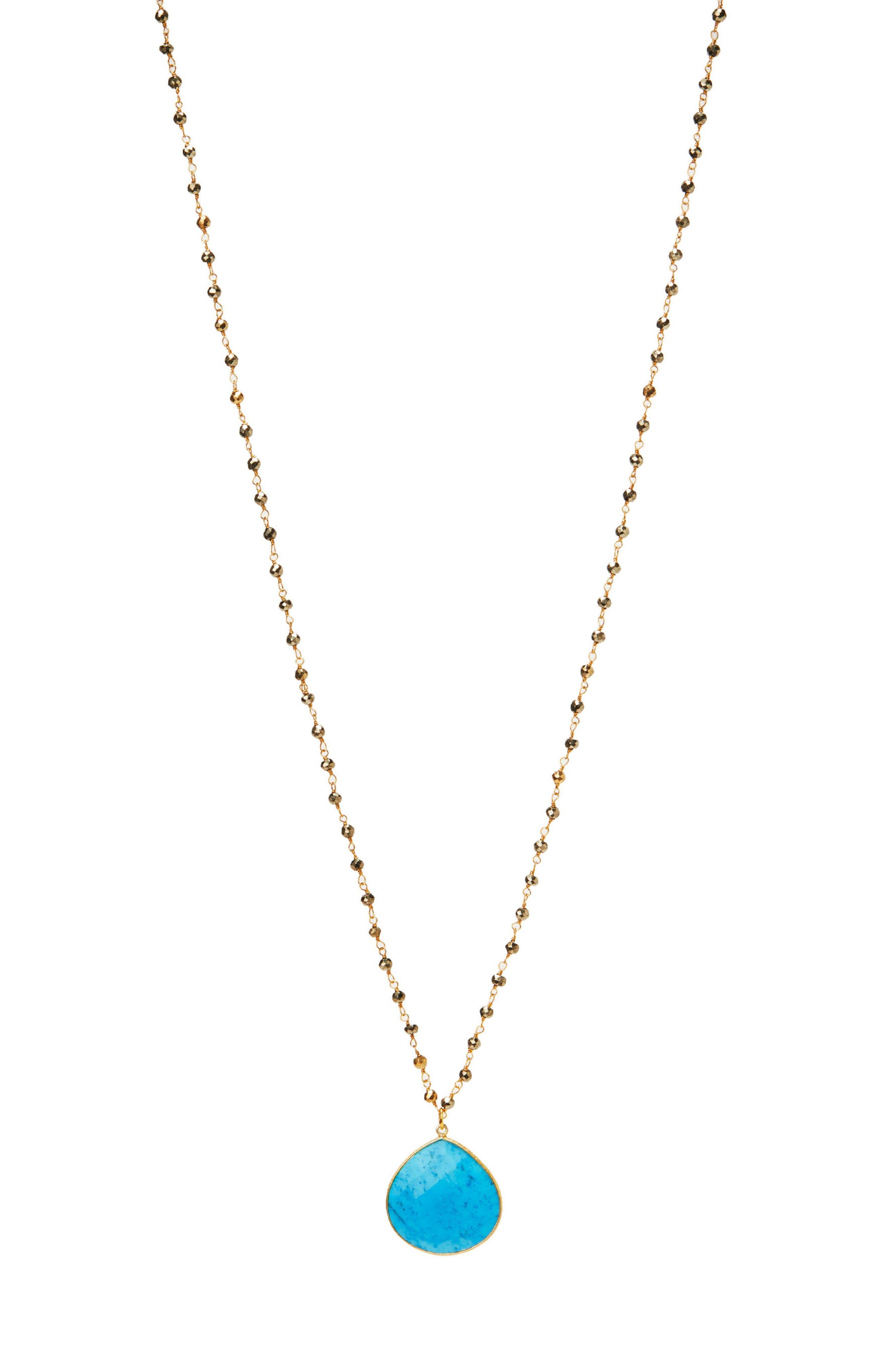 Alternate Image 1 Selected - Jemma Sands Monterey Semiprecious Stone Pendant Necklace