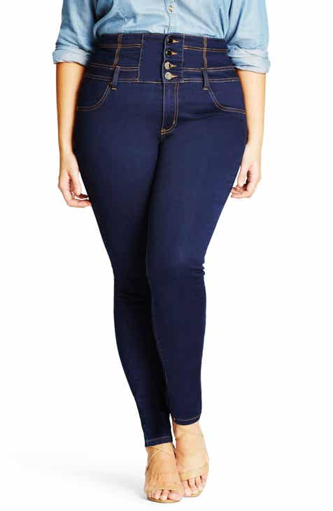 26b4d73f492c City Chic Harley Corset Waist Stretch Skinny Jeans (Plus Size)