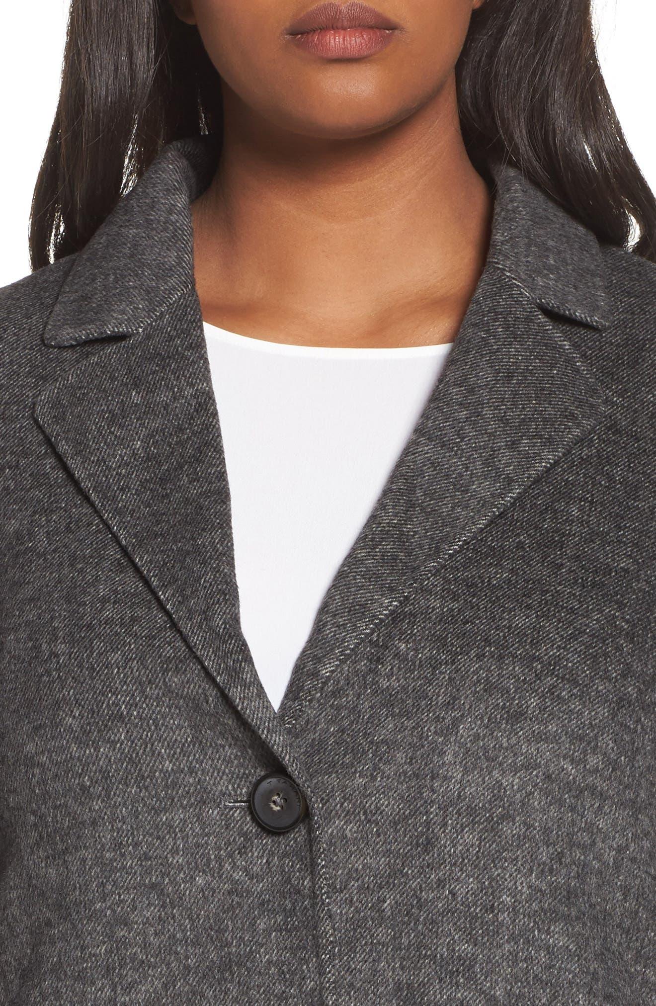 Alternate Image 4  - Tahari Jayden Car Coat (Plus Size)