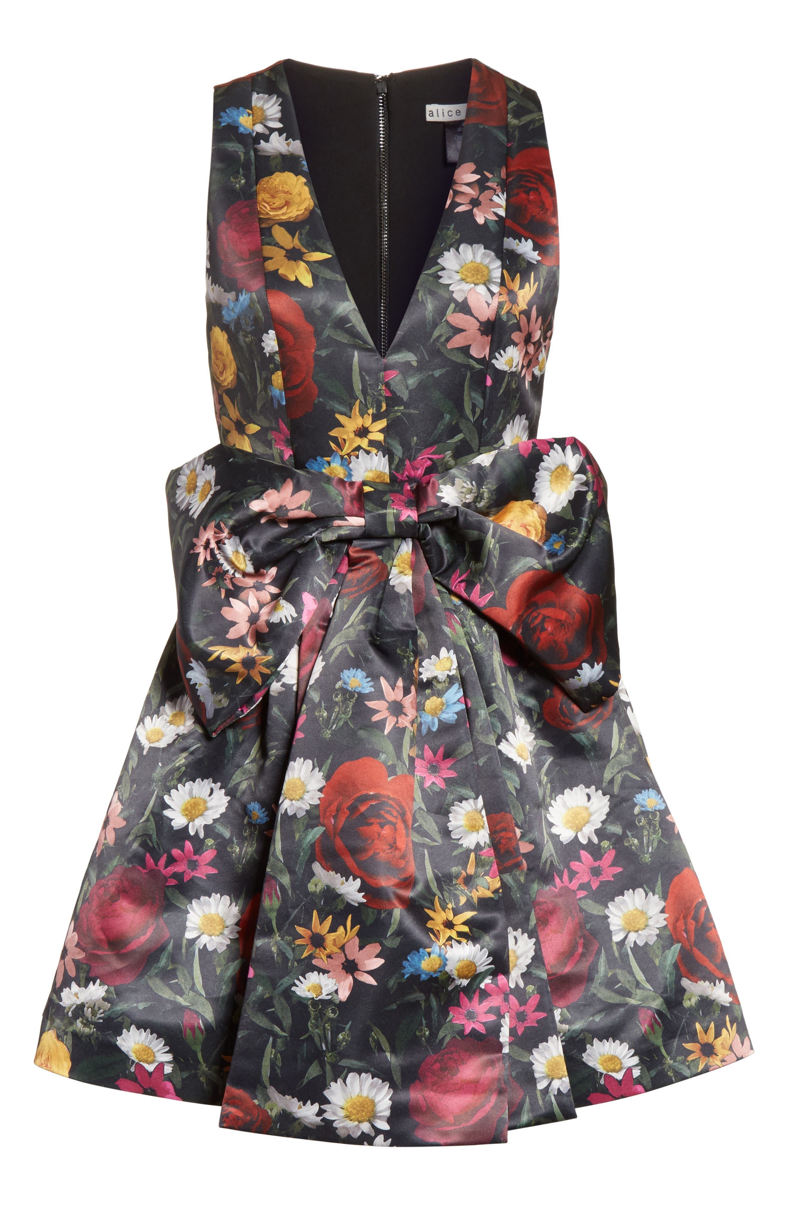 Alternate Image 6  - Alice + Olivia Daralee Bow Front Party Dress