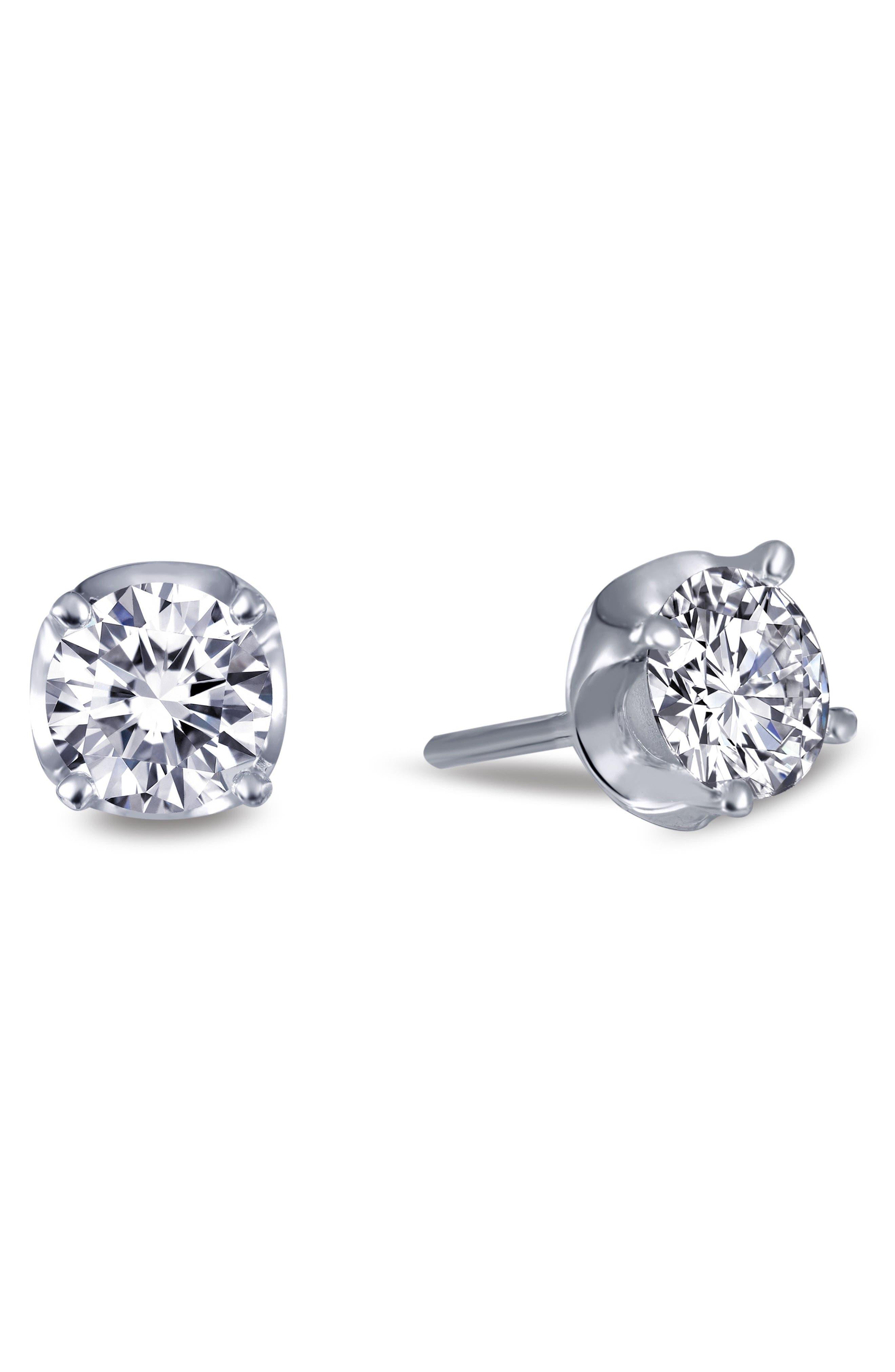 Alternate Image 3  - Lafonn Simulated Diamond Stud Earrings