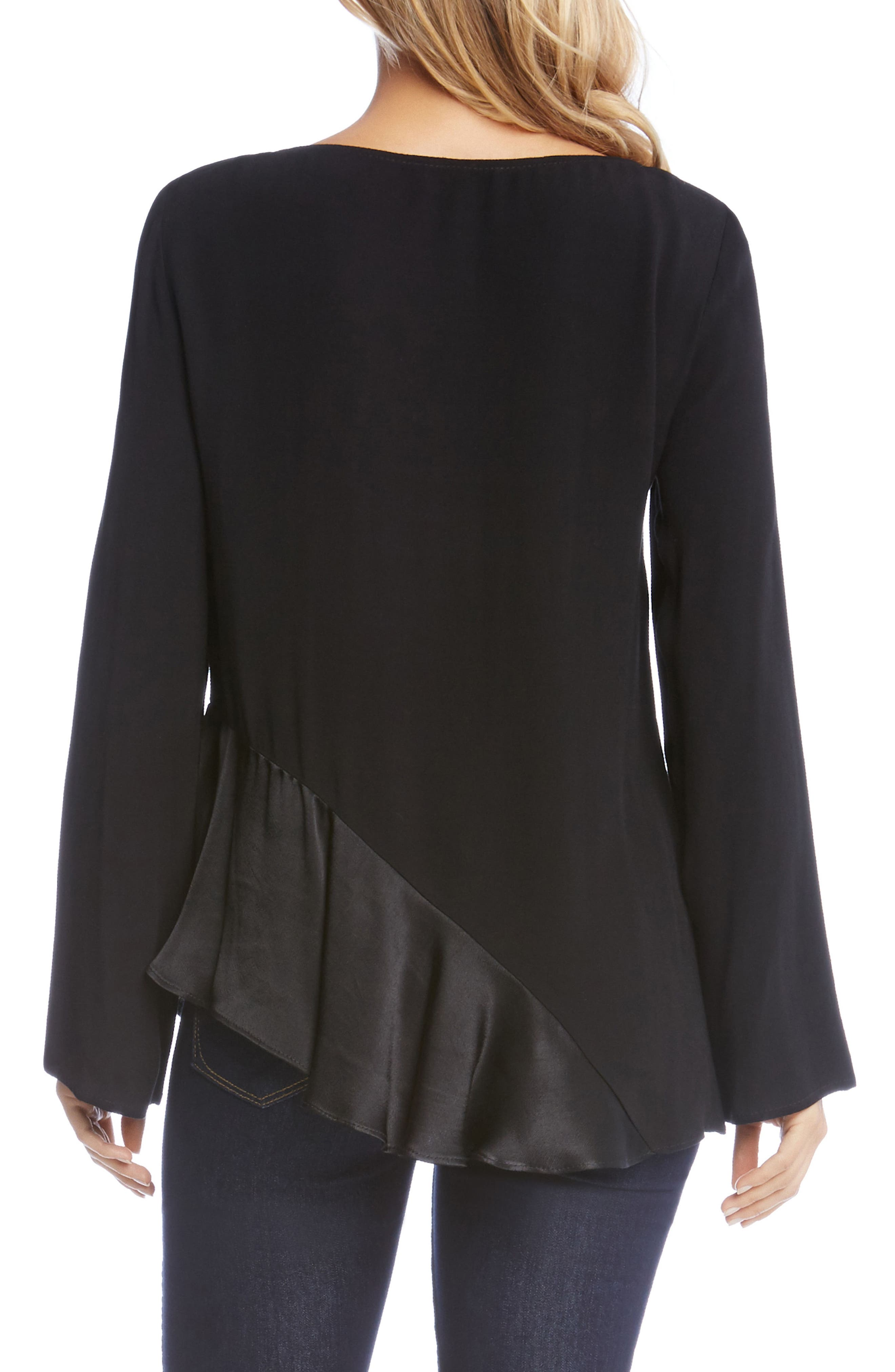 Alternate Image 2  - Karen Kane Satin Hem Top