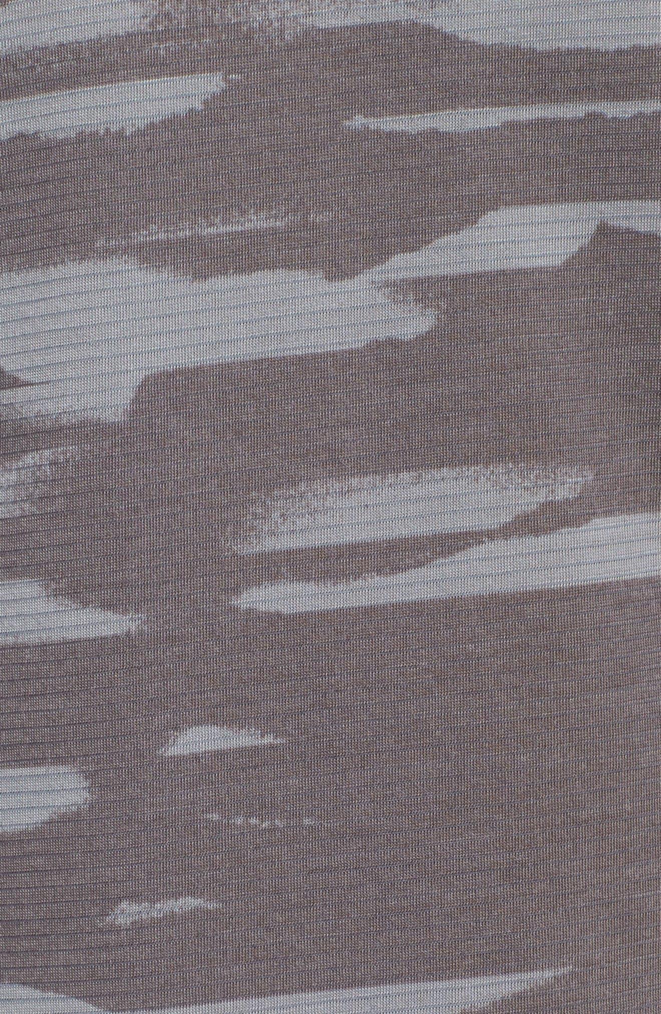 Threadborne Mesh Running T-Shirt,                             Alternate thumbnail 5, color,                             Grey / Black / Reflective