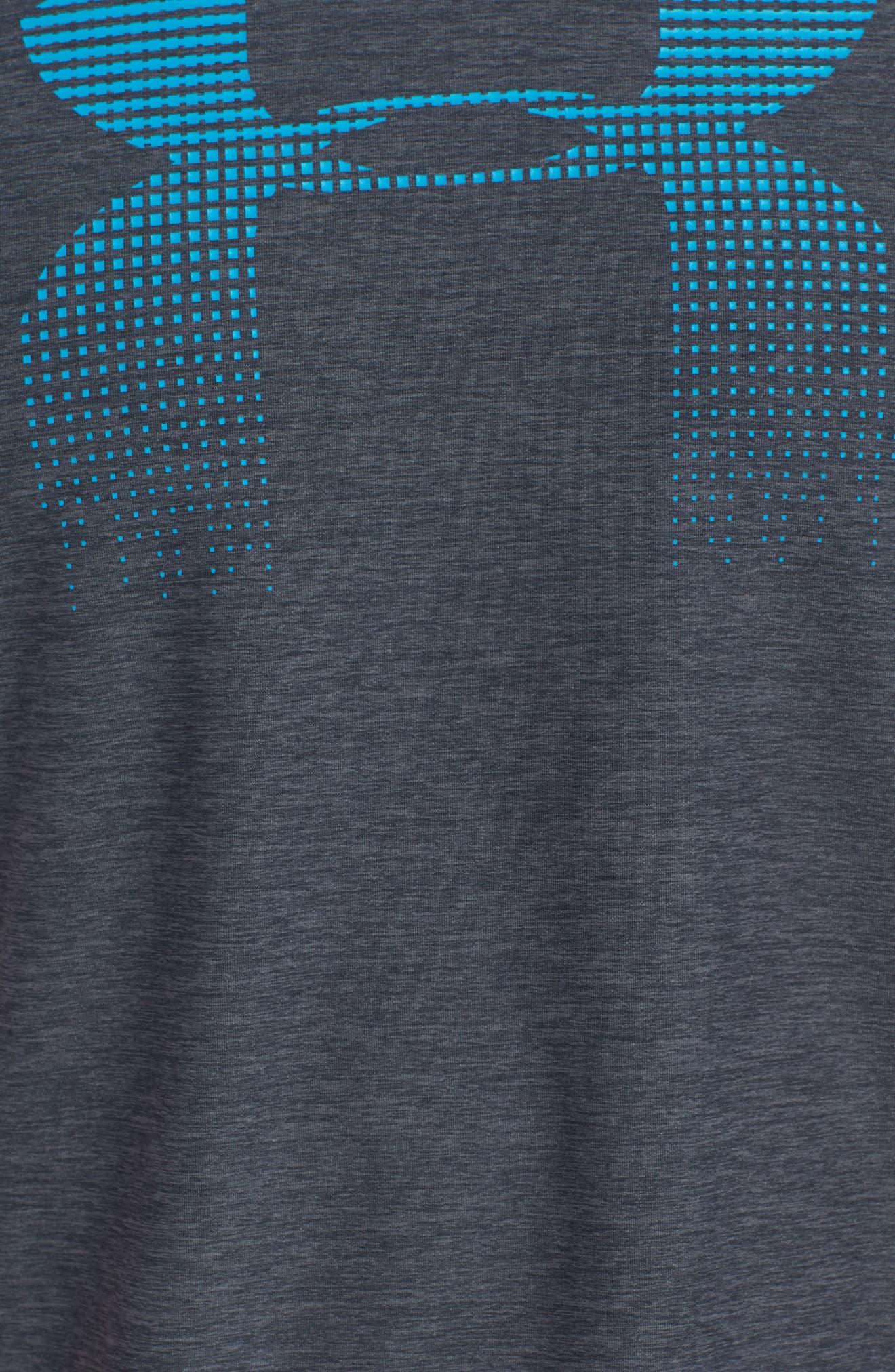 Raid Graphic T-Shirt,                             Alternate thumbnail 5, color,                             Stealth Grey / / Blue Shift