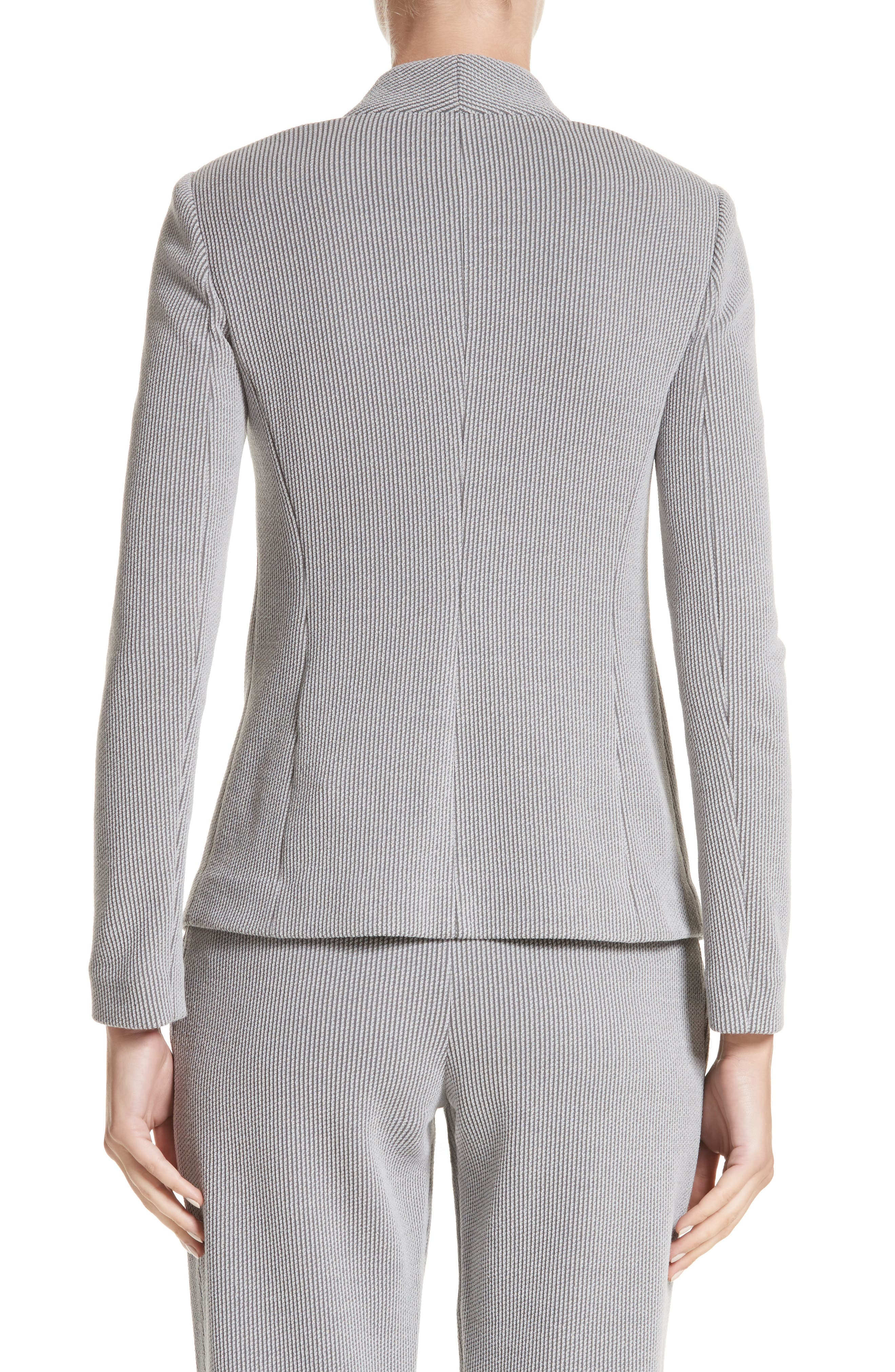 Stripe Jacquard Jacket,                             Alternate thumbnail 2, color,                             Grey Multi