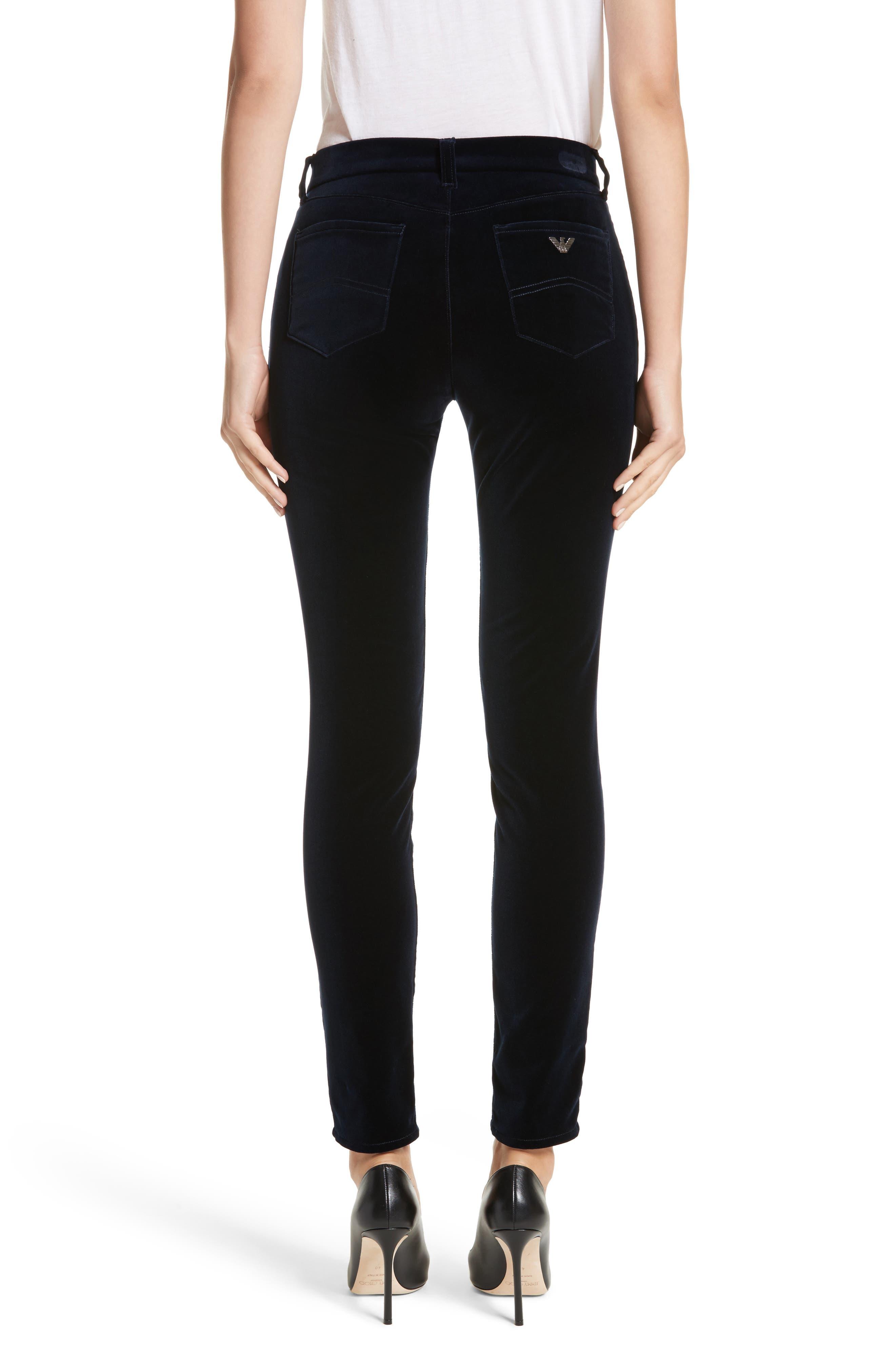 Alternate Image 2  - Armani Collezioni Velvet Straight Leg Pants