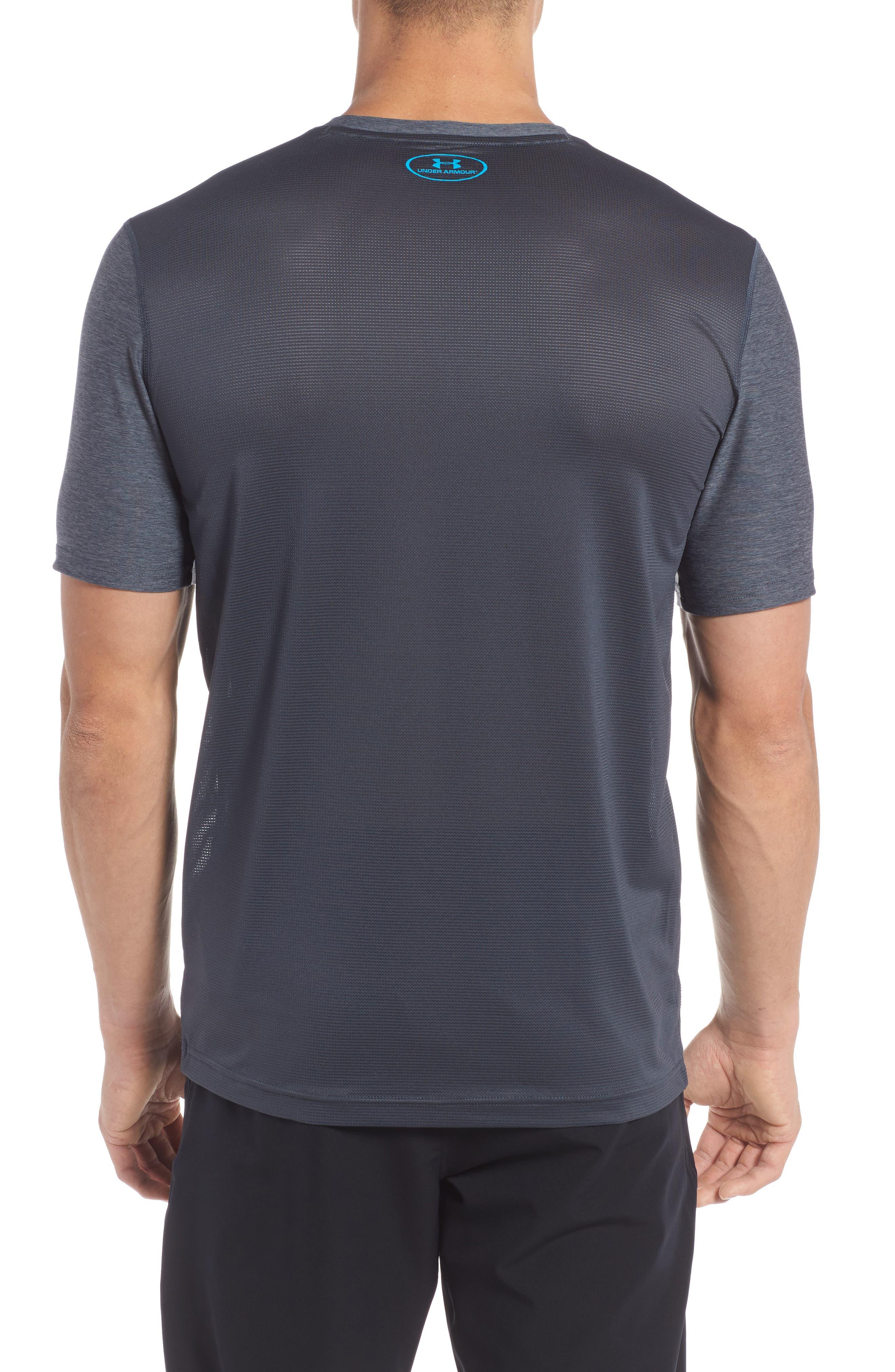 Raid Graphic T-Shirt,                             Alternate thumbnail 2, color,                             Stealth Grey / / Blue Shift