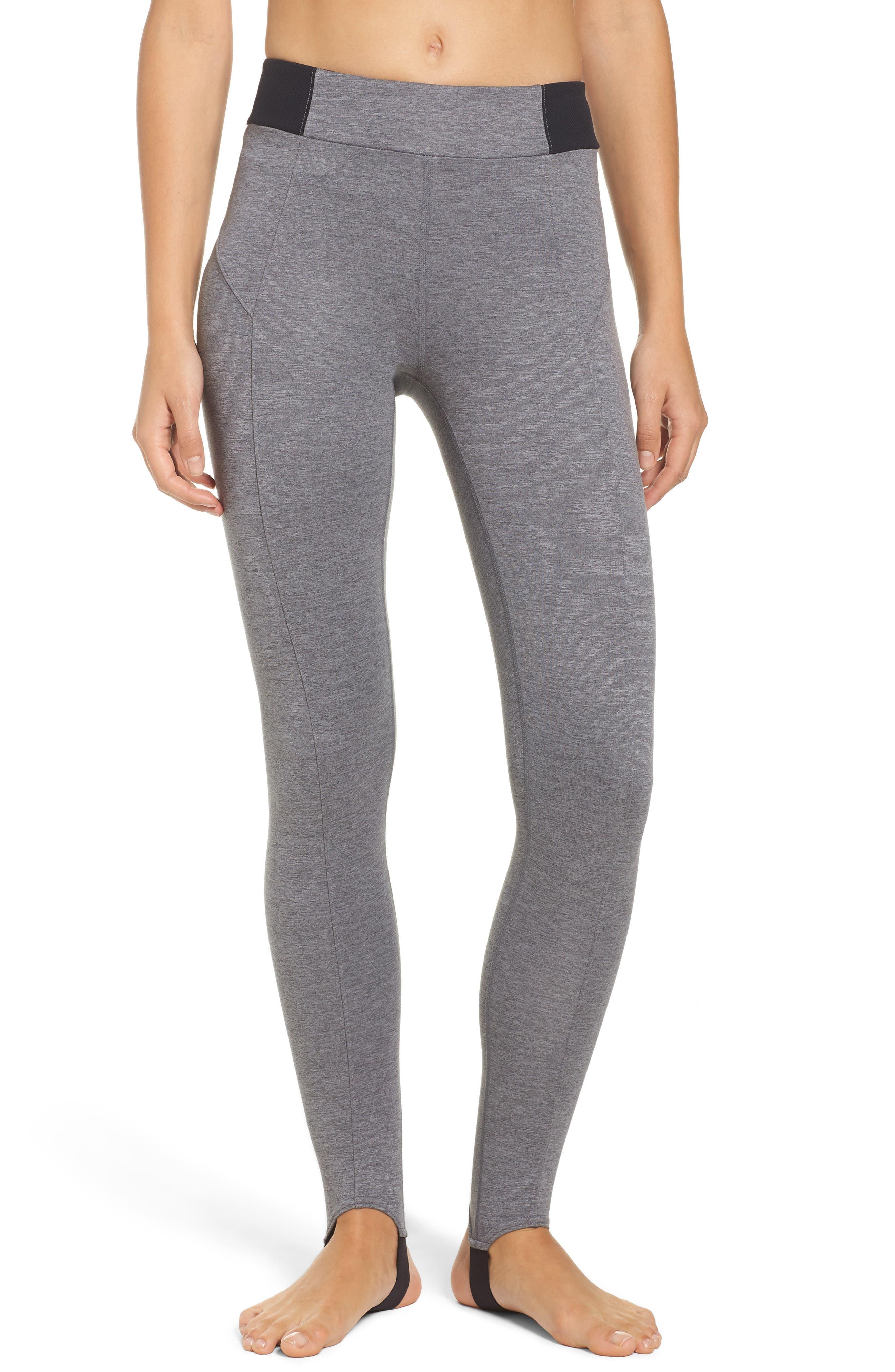 Turn Heads High Waist Stirrup Leggings,                         Main,                         color, Grey Dark Heather