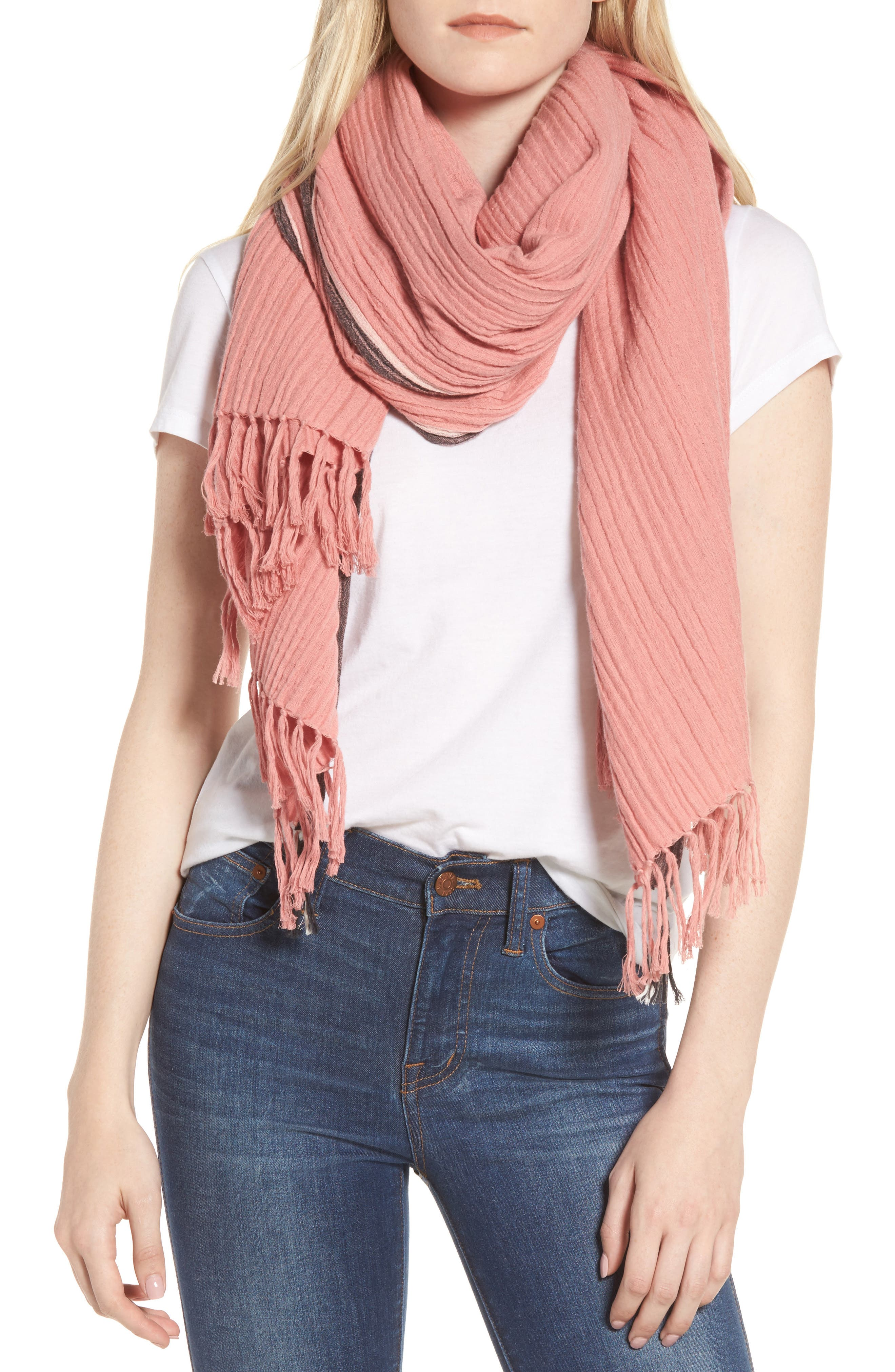 Alternate Image 4  - Madewell Selvedge Poncho Scarf