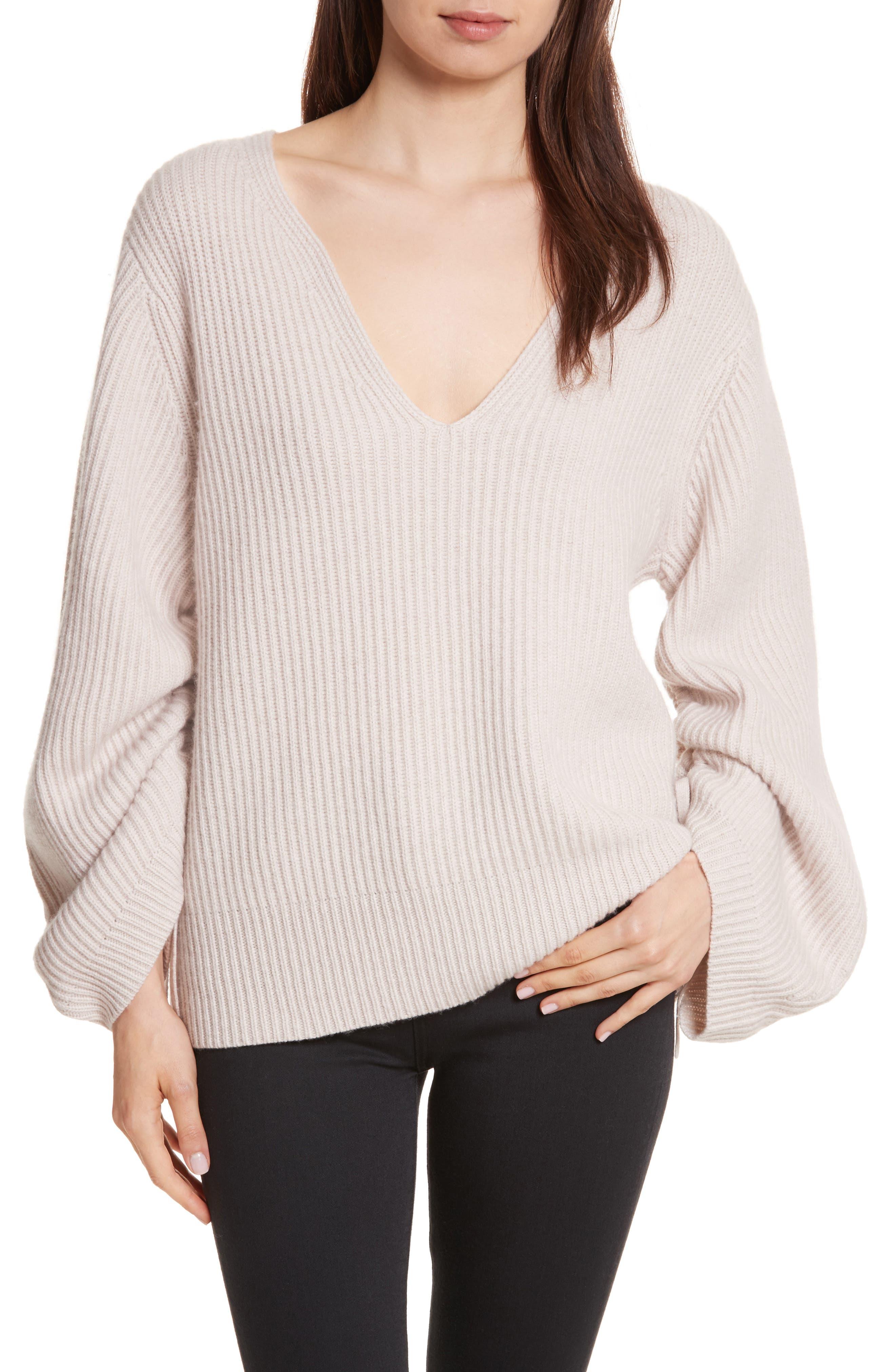 Brochu Walker Anneka Wool & Cashmere Puff Sleeve Sweater
